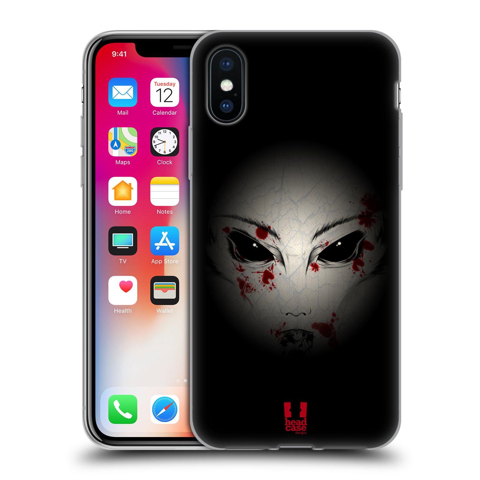 Silikonové pouzdro na mobil Apple iPhone XS - Head Case - Macabre