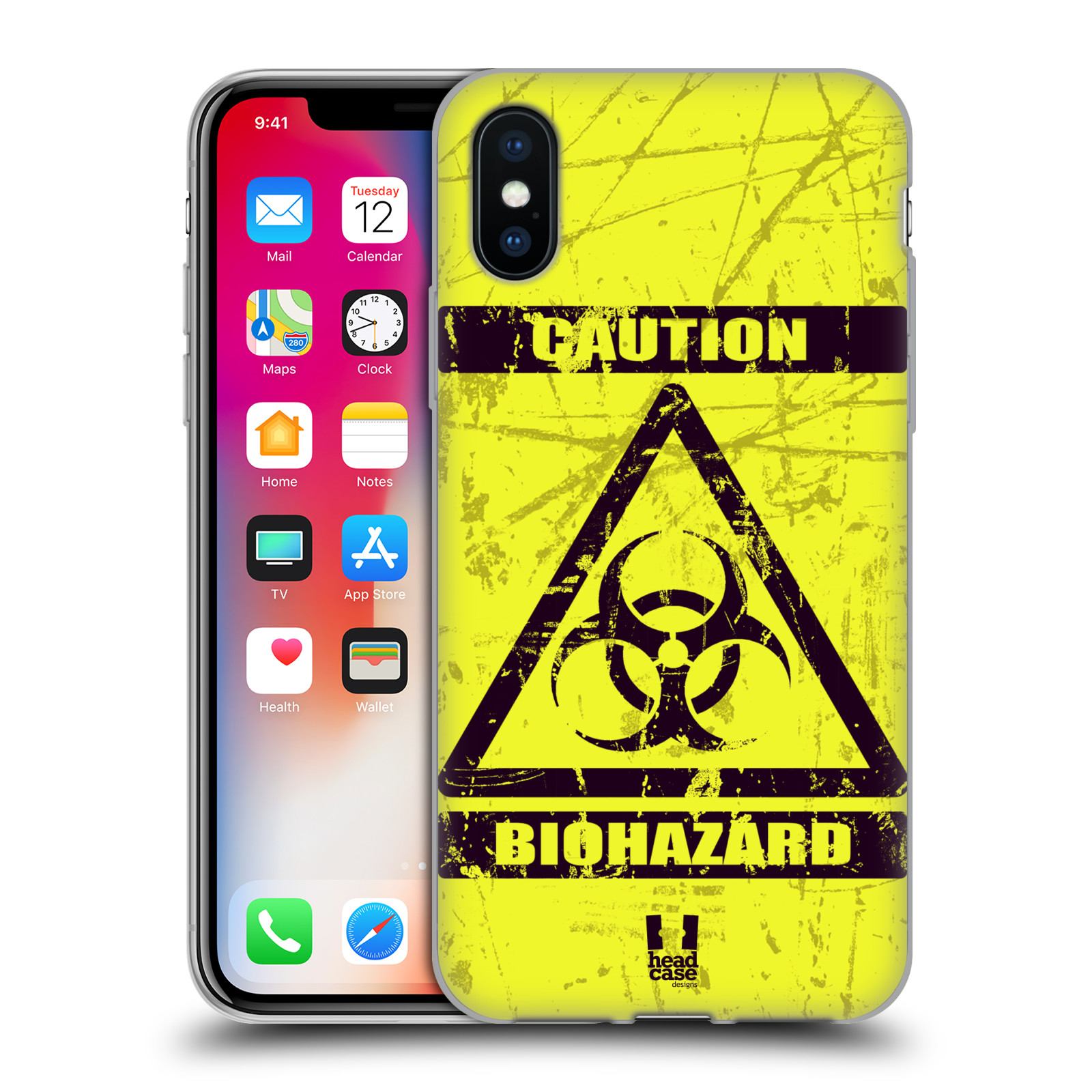 Silikonové pouzdro na mobil Apple iPhone XS - Head Case - BIOHAZARD