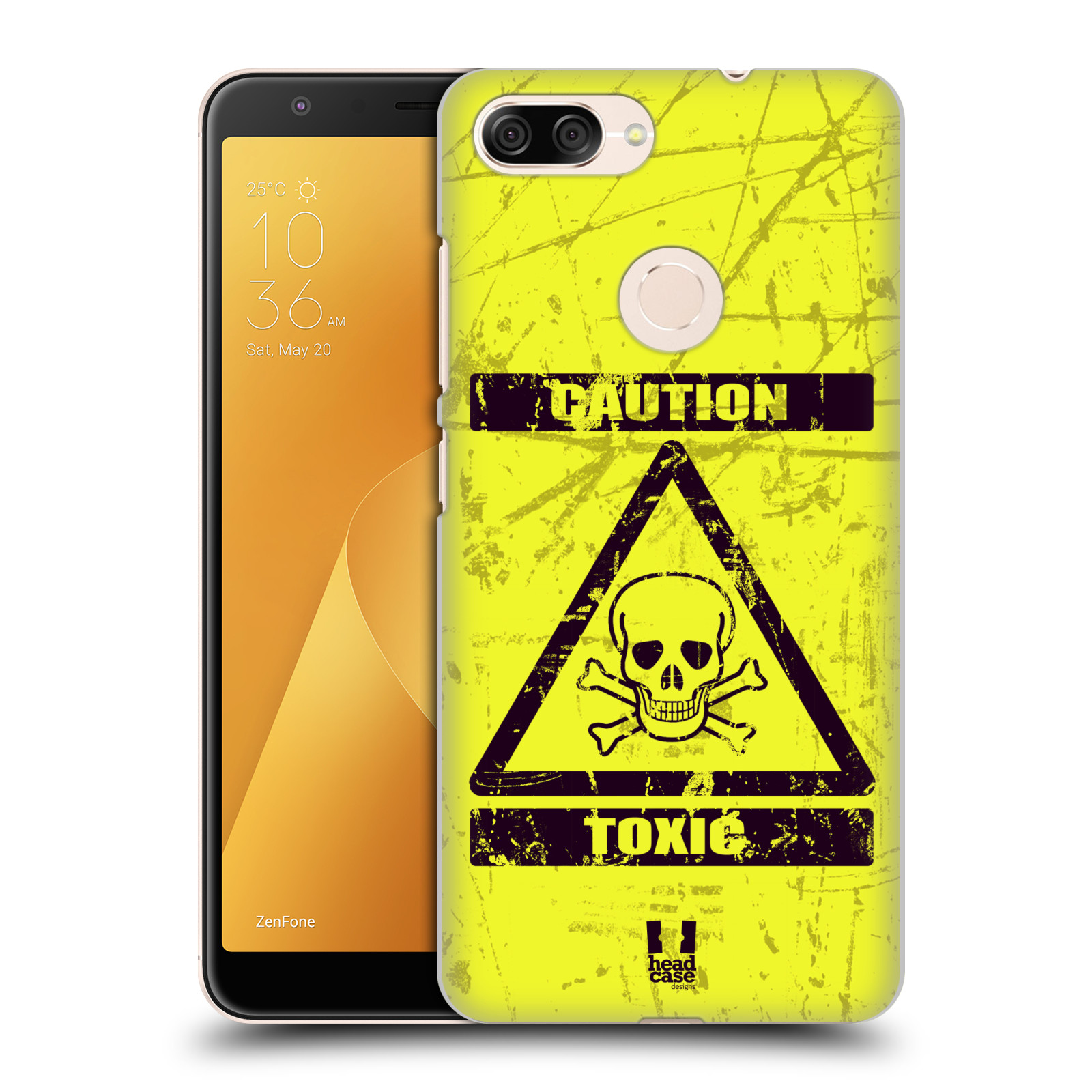 Plastové pouzdro na mobil Asus ZenFone Max Plus (M1) - Head Case - TOXIC (Plastový kryt či obal na mobilní telefon Asus ZenFone Max Plus M1 ZB570TL s motivem TOXIC)