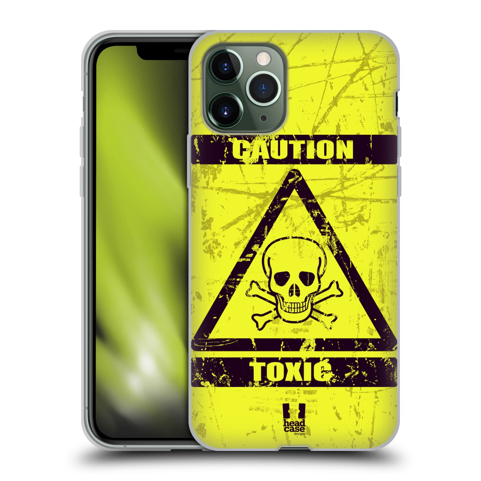 iphone xr obal apple , Silikonové pouzdro na mobil Apple iPhone 11 Pro - Head Case - TOXIC
