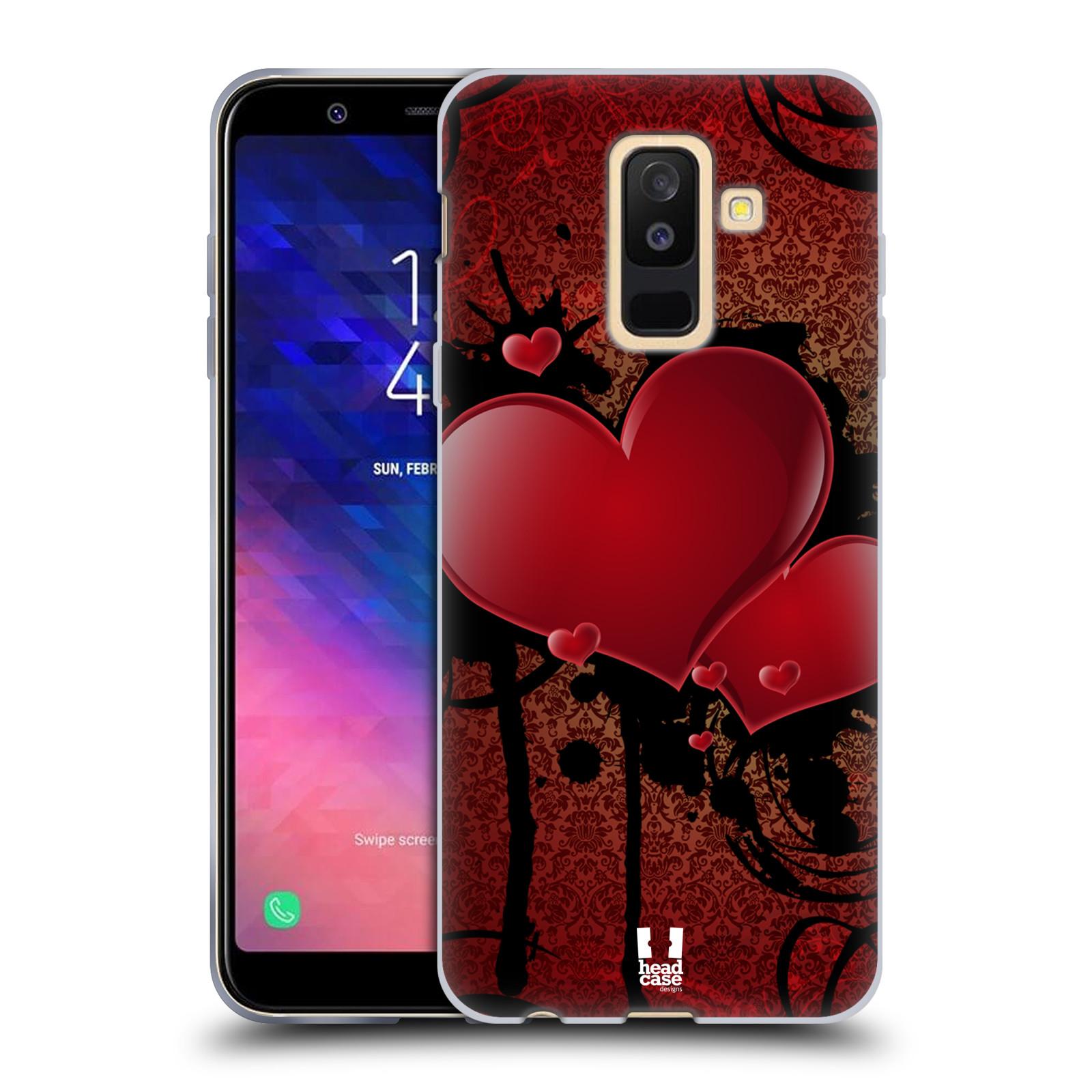 Silikonové pouzdro na mobil Samsung Galaxy A6 Plus (2018) - Head Case - SRDÍČKA GRUNGE