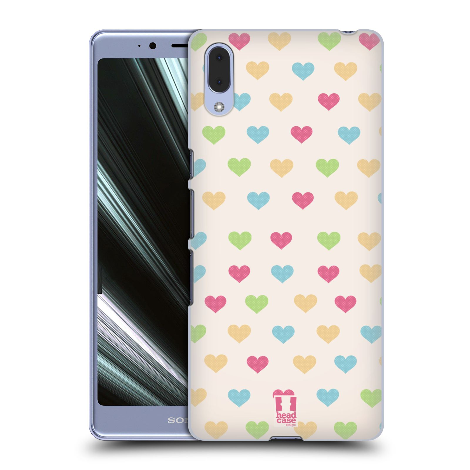Plastové pouzdro na mobil Sony Xperia L3 - Head Case - SRDÍČKA BAREVNÁ - ROZBALENO