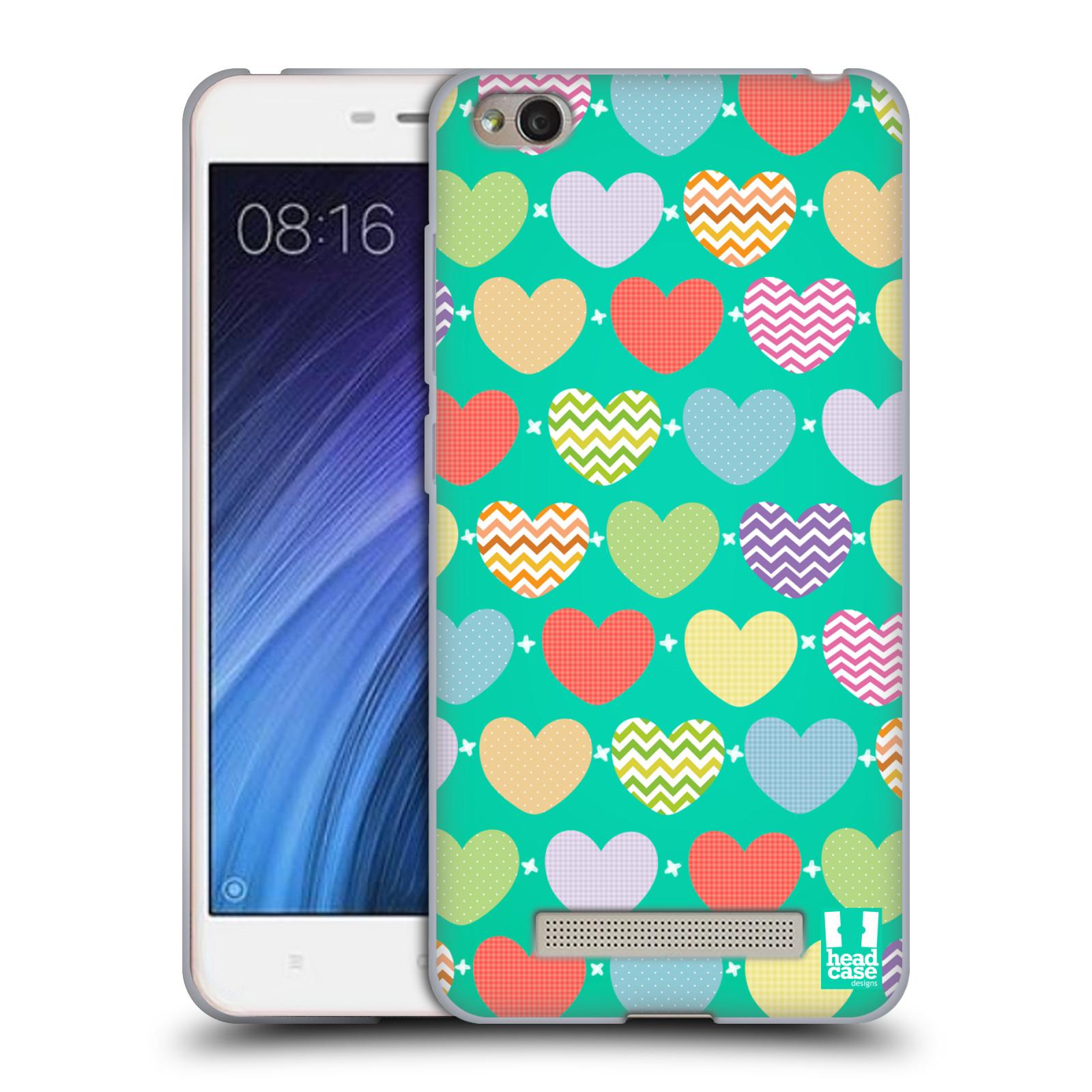 Silikonové pouzdro na mobil Xiaomi Redmi 4A - Head Case - SRDÍČKA NA ZELENÉ  (Silikonový 333283058f0