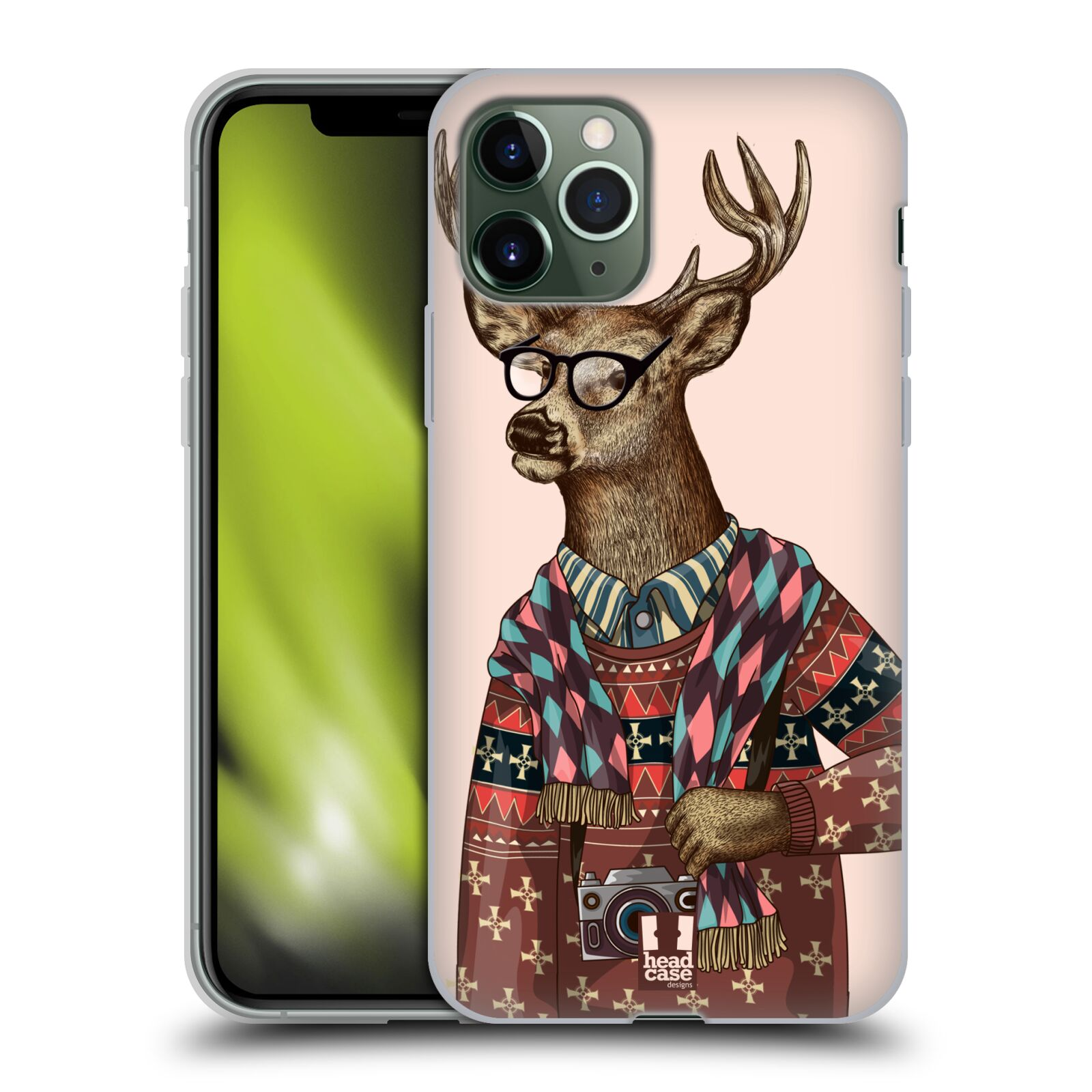 gucci phone case iphone x india - Silikonové pouzdro na mobil Apple iPhone 11 Pro - Head Case - HIPSTR SVETR JELEN