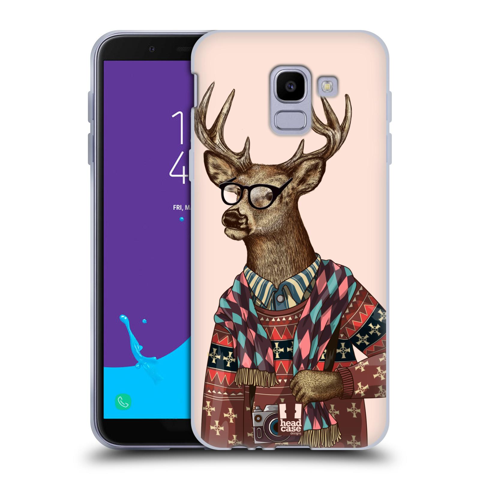 Silikonové pouzdro na mobil Samsung Galaxy J6 (2018) - Head Case - HIPSTR SVETR JELEN