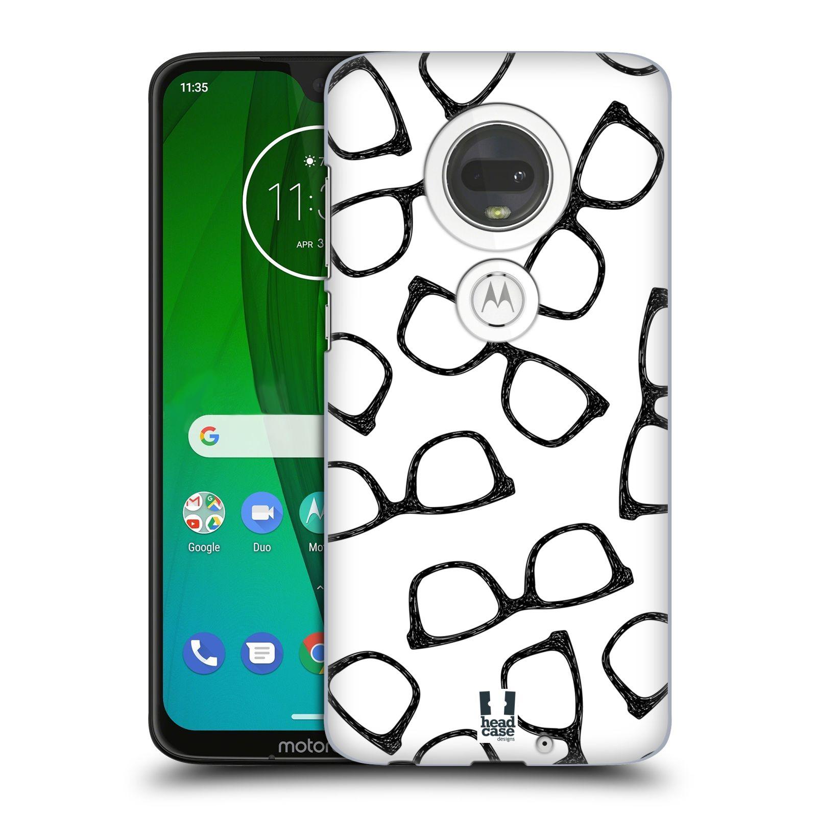 Plastové pouzdro na mobil Motorola Moto G7 - Head Case - HIPSTER BRÝLE
