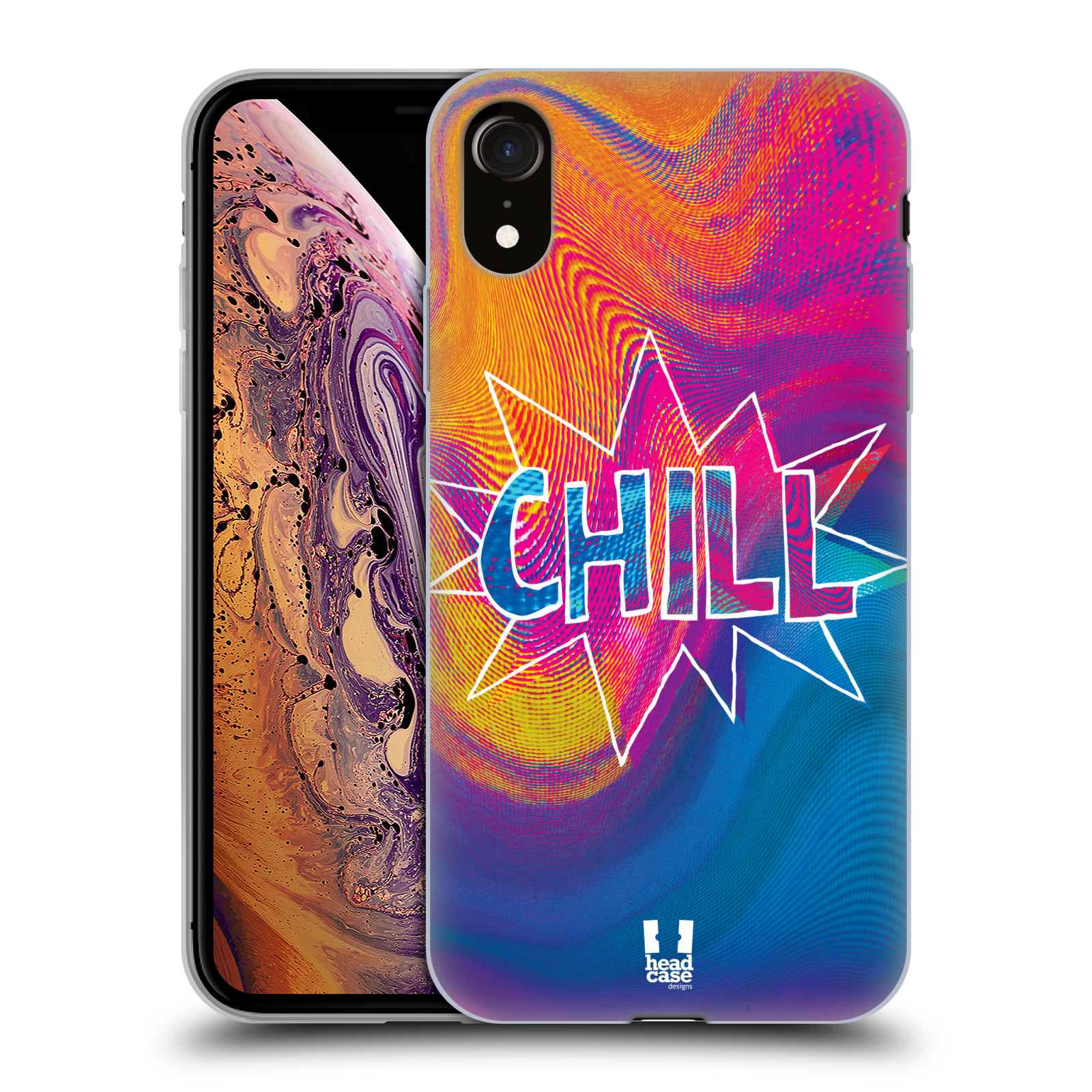 Silikonové pouzdro na mobil Apple iPhone XR - Head Case - HOLOGRAF CHILL