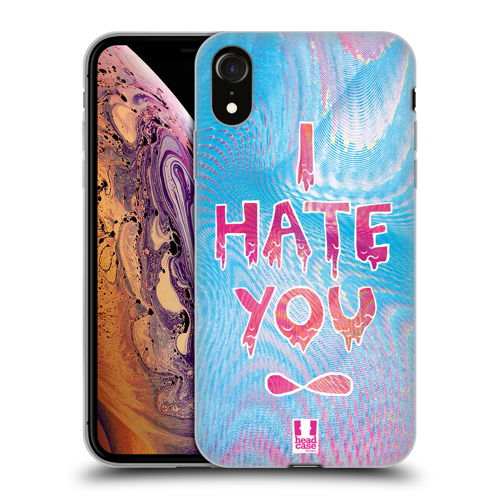 Silikonové pouzdro na mobil Apple iPhone XR - Head Case - HOLOGRAF HATE YOU