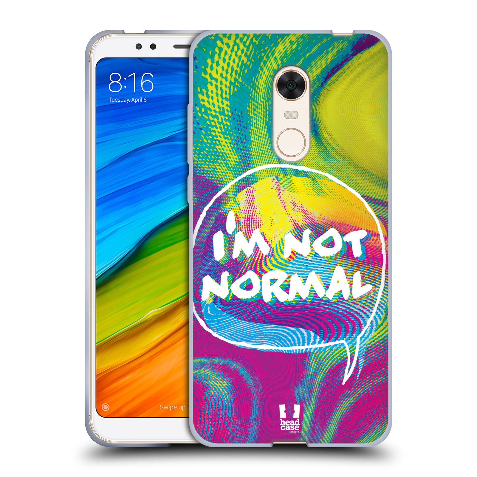Silikonové pouzdro na mobil Xiaomi Redmi 5 Plus - Head Case - HOLOGRAF I'M NOT NORMAL