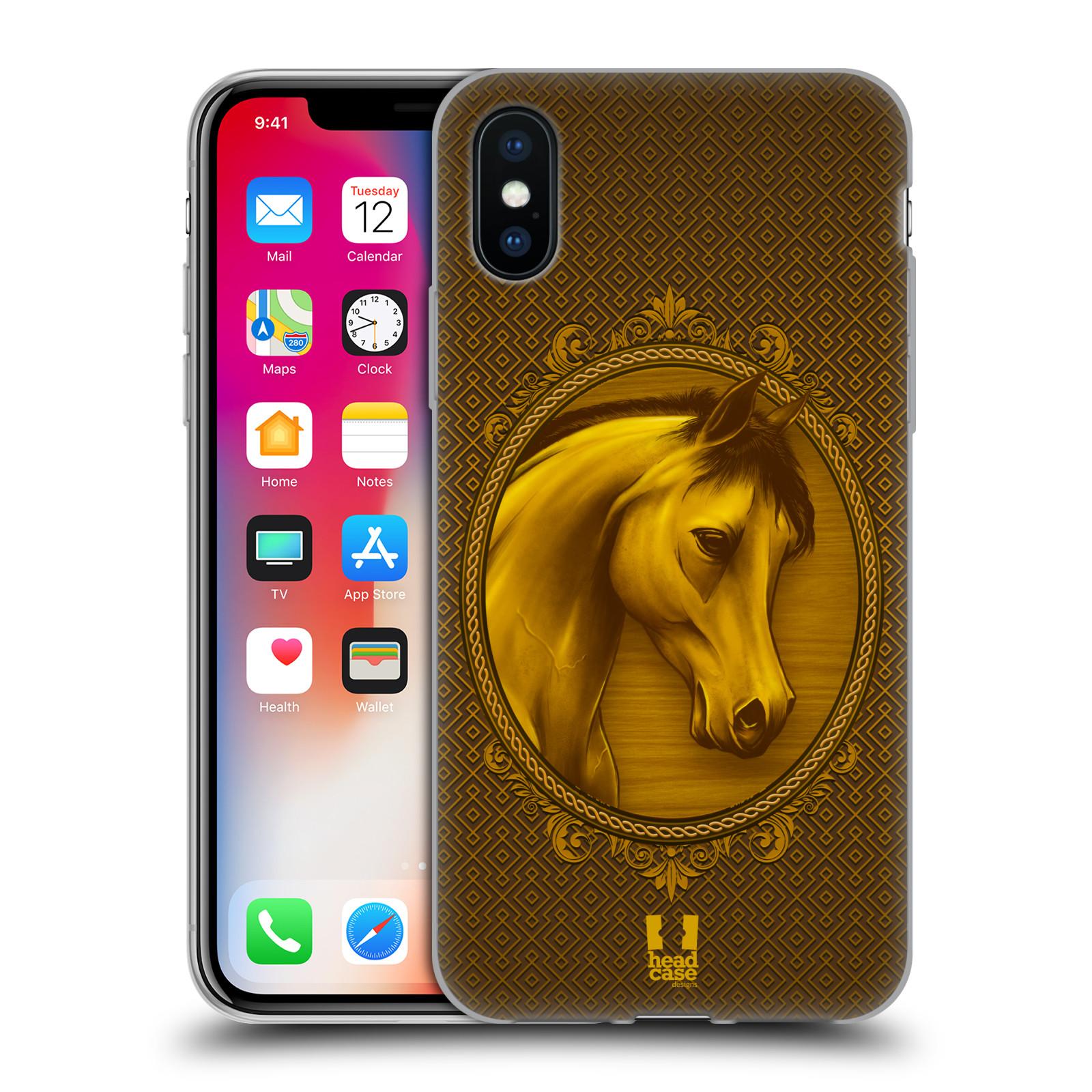 Silikonové pouzdro na mobil Apple iPhone XS - Head Case - KRÁLOVSKÝ KONÍK