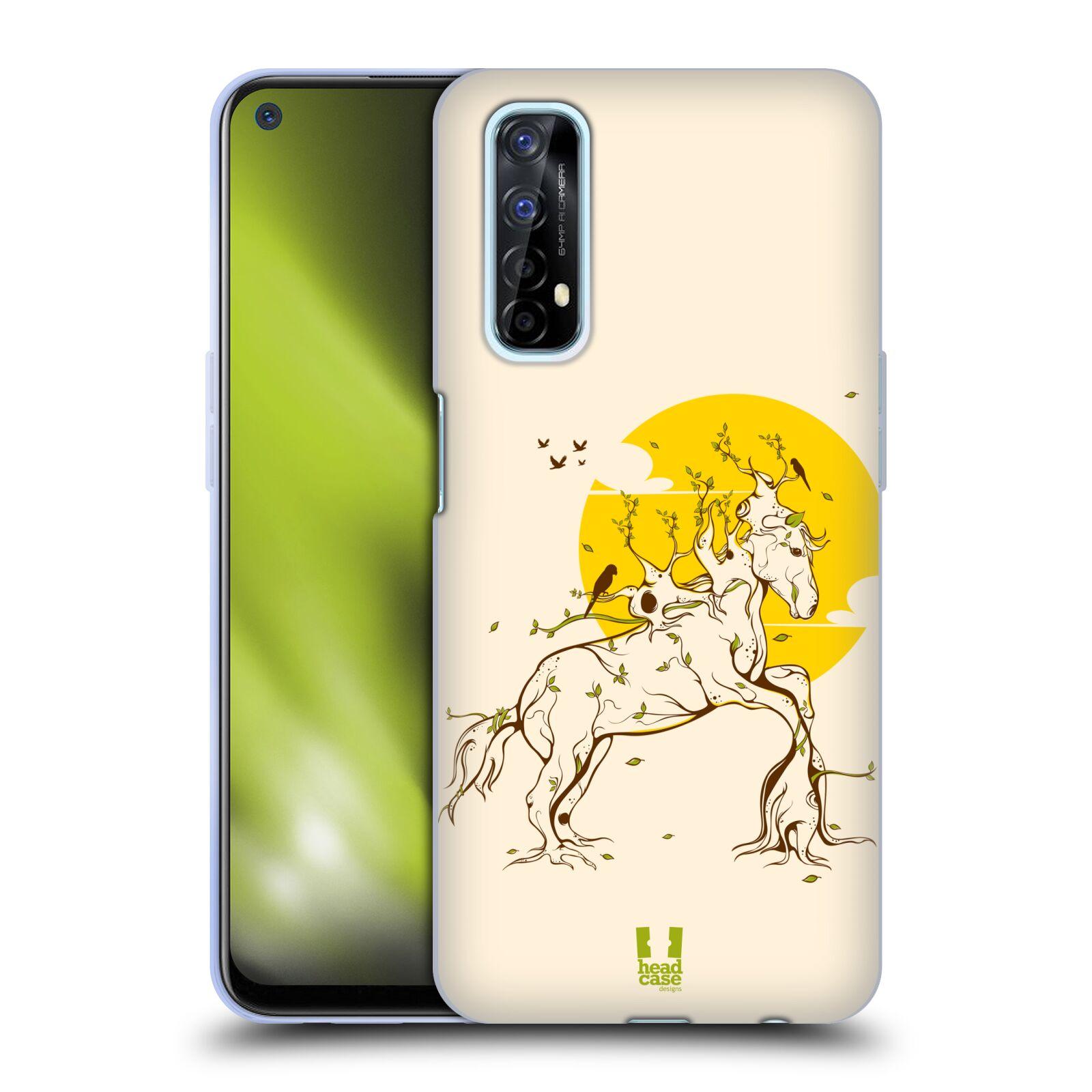 Silikonové pouzdro na mobil Realme 7 - Head Case - KONÍK VE STROMOVÉM HÁVU