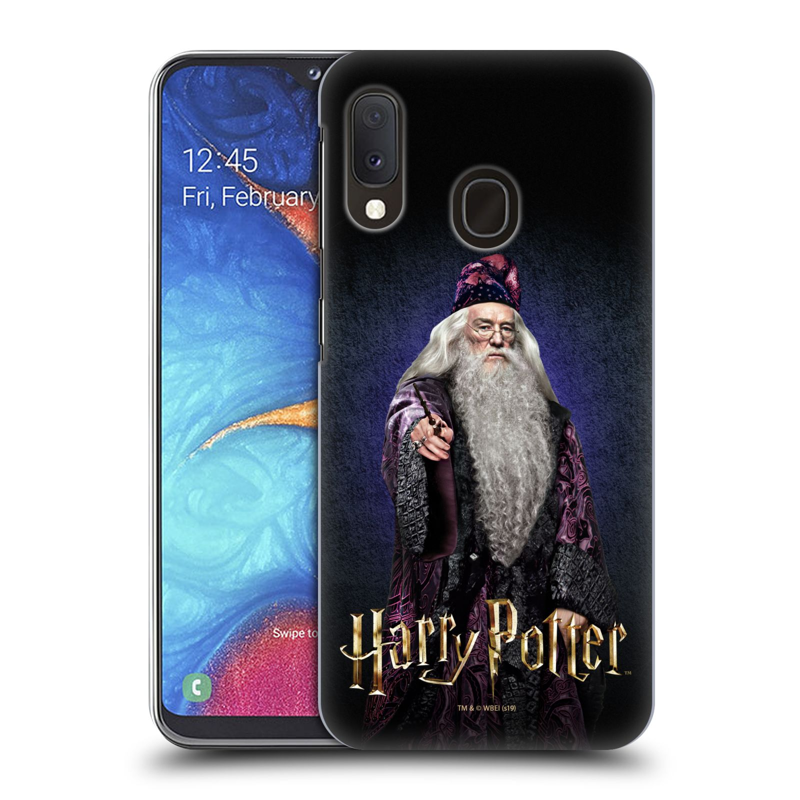 Plastové pouzdro na mobil Samsung Galaxy A20e - Harry Potter - Albus Brumbál