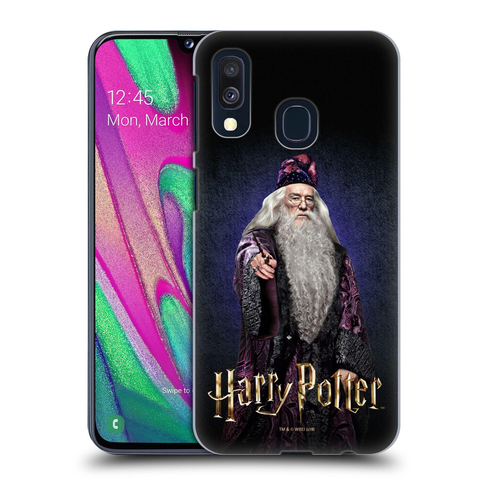 Plastové pouzdro na mobil Samsung Galaxy A40 - Harry Potter - Albus Brumbál