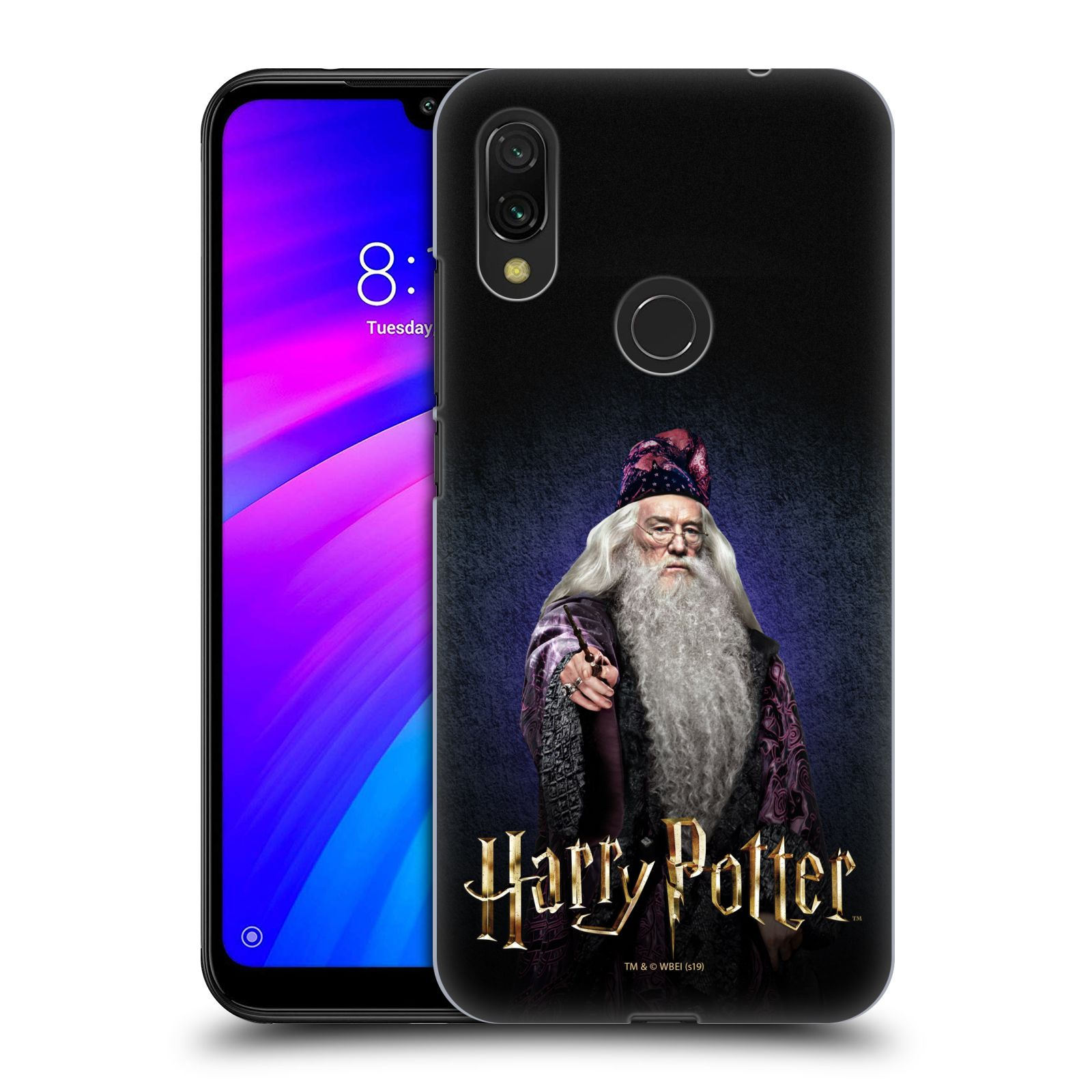 Plastové pouzdro na mobil Xiaomi Redmi 7 - Harry Potter - Albus Brumbál