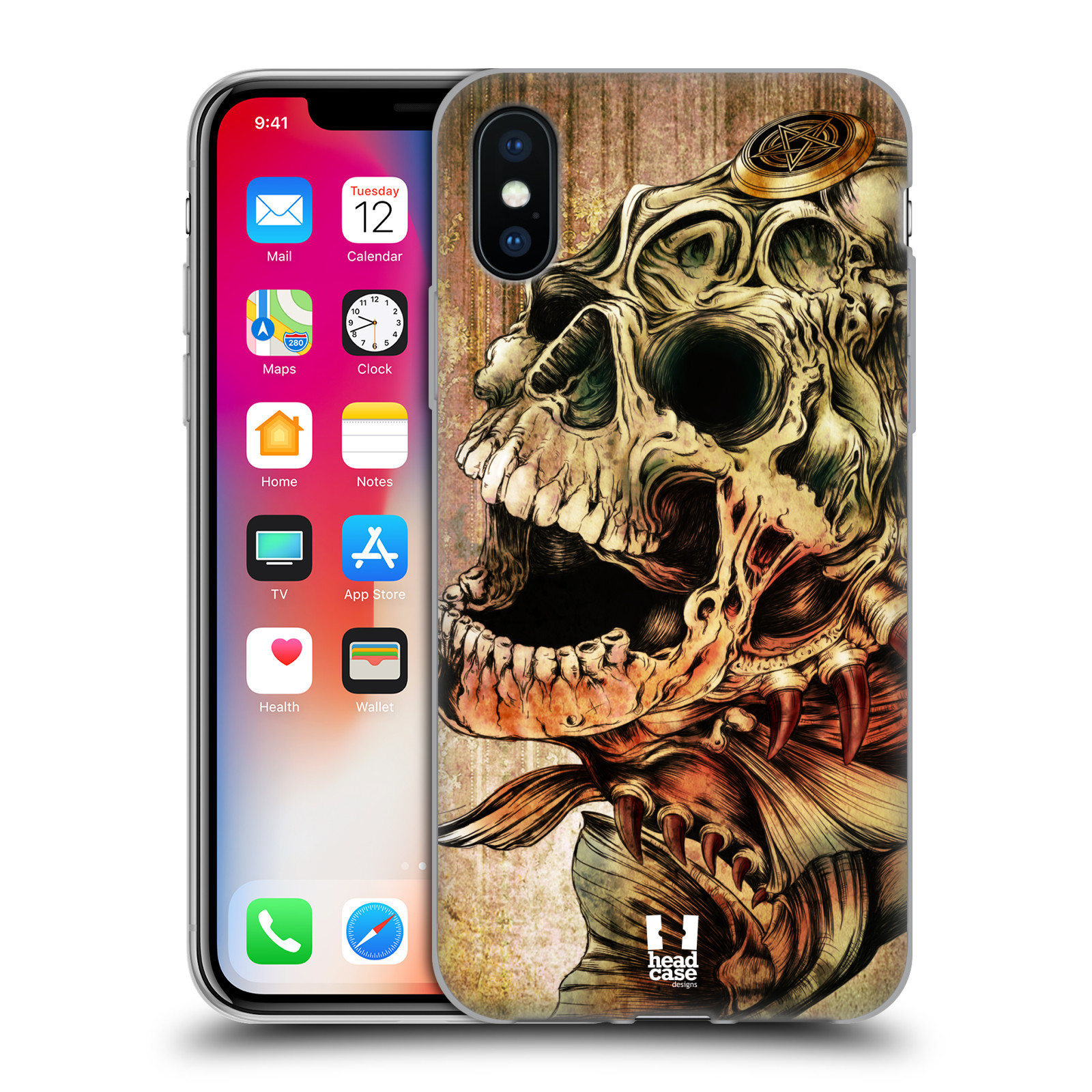 Silikonové pouzdro na mobil Apple iPhone XS - Head Case - PIRANHA