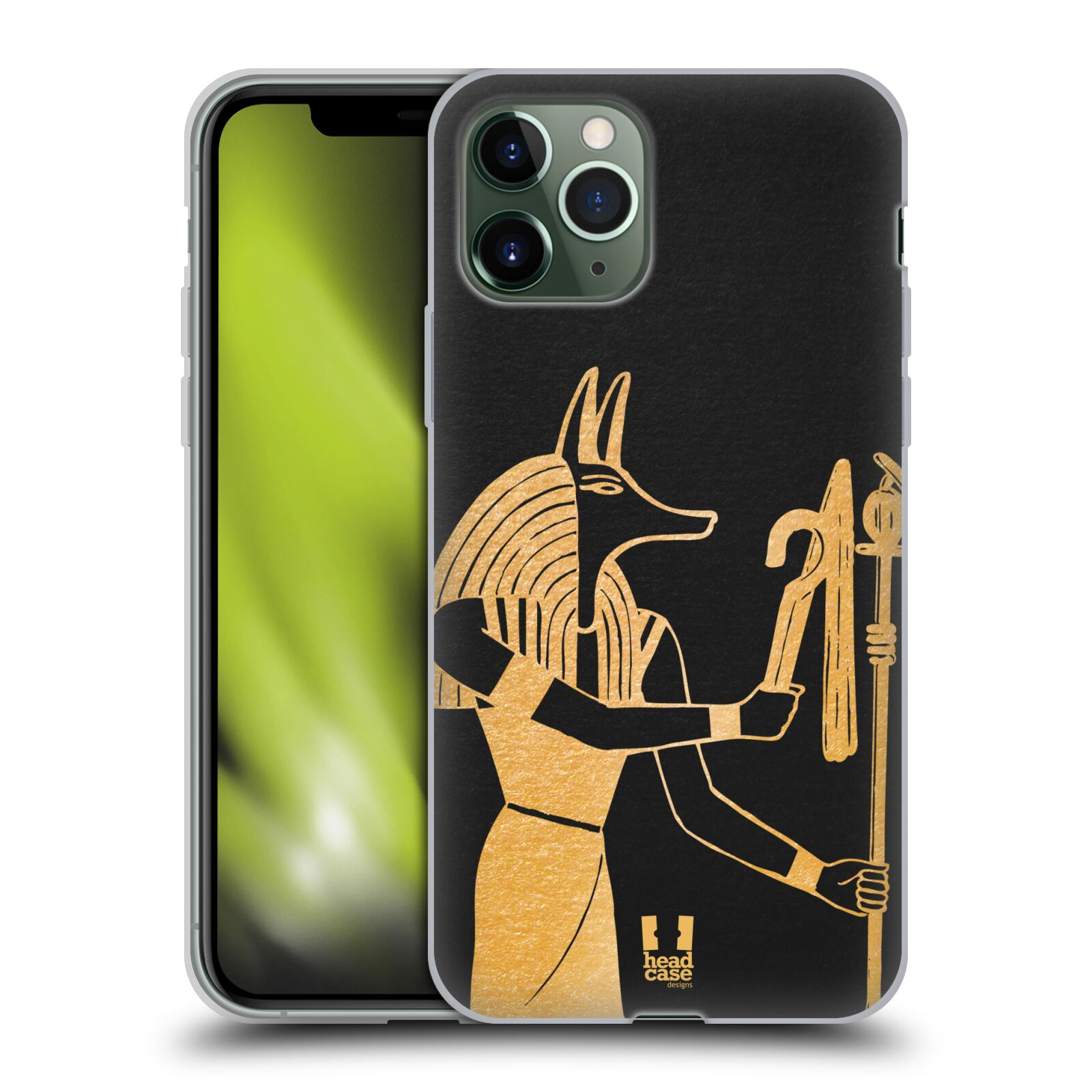 kryt iphone xr apple , Silikonové pouzdro na mobil Apple iPhone 11 Pro - Head Case - EGYPT ANUBIS