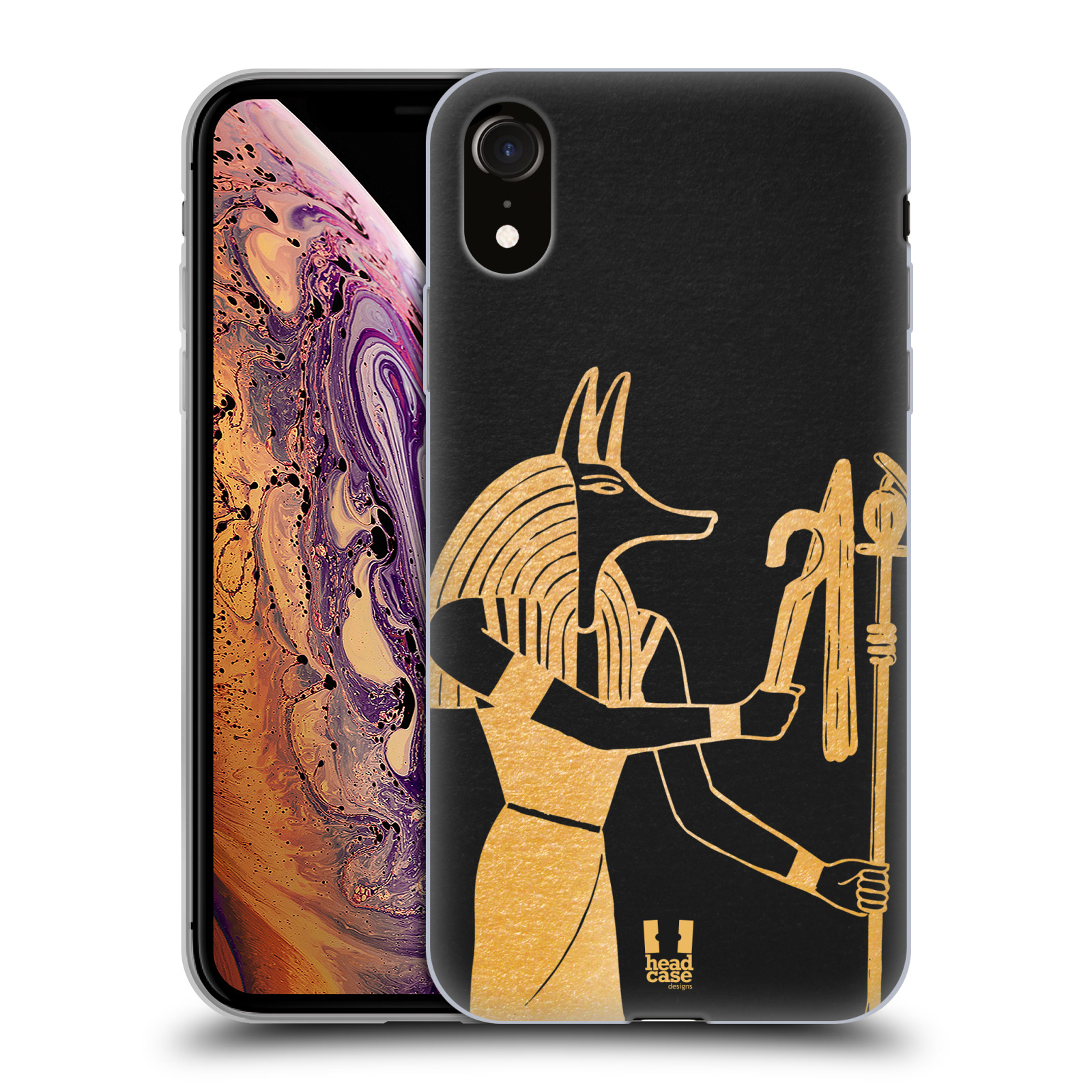 Silikonové pouzdro na mobil Apple iPhone XR - Head Case - EGYPT ANUBIS