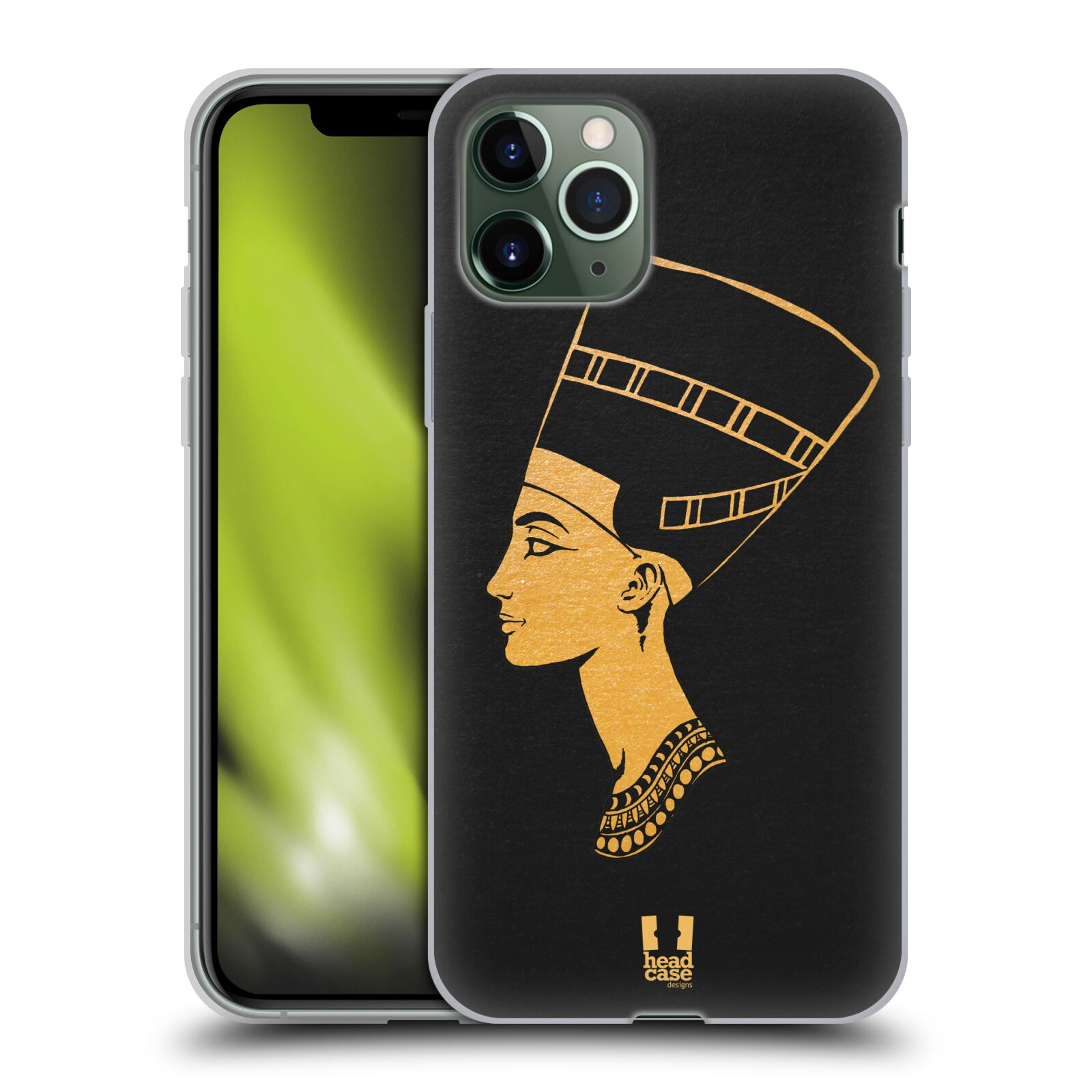 etui na telefon iphone x gucci - Silikonové pouzdro na mobil Apple iPhone 11 Pro - Head Case - EGYPT NEFERTITI
