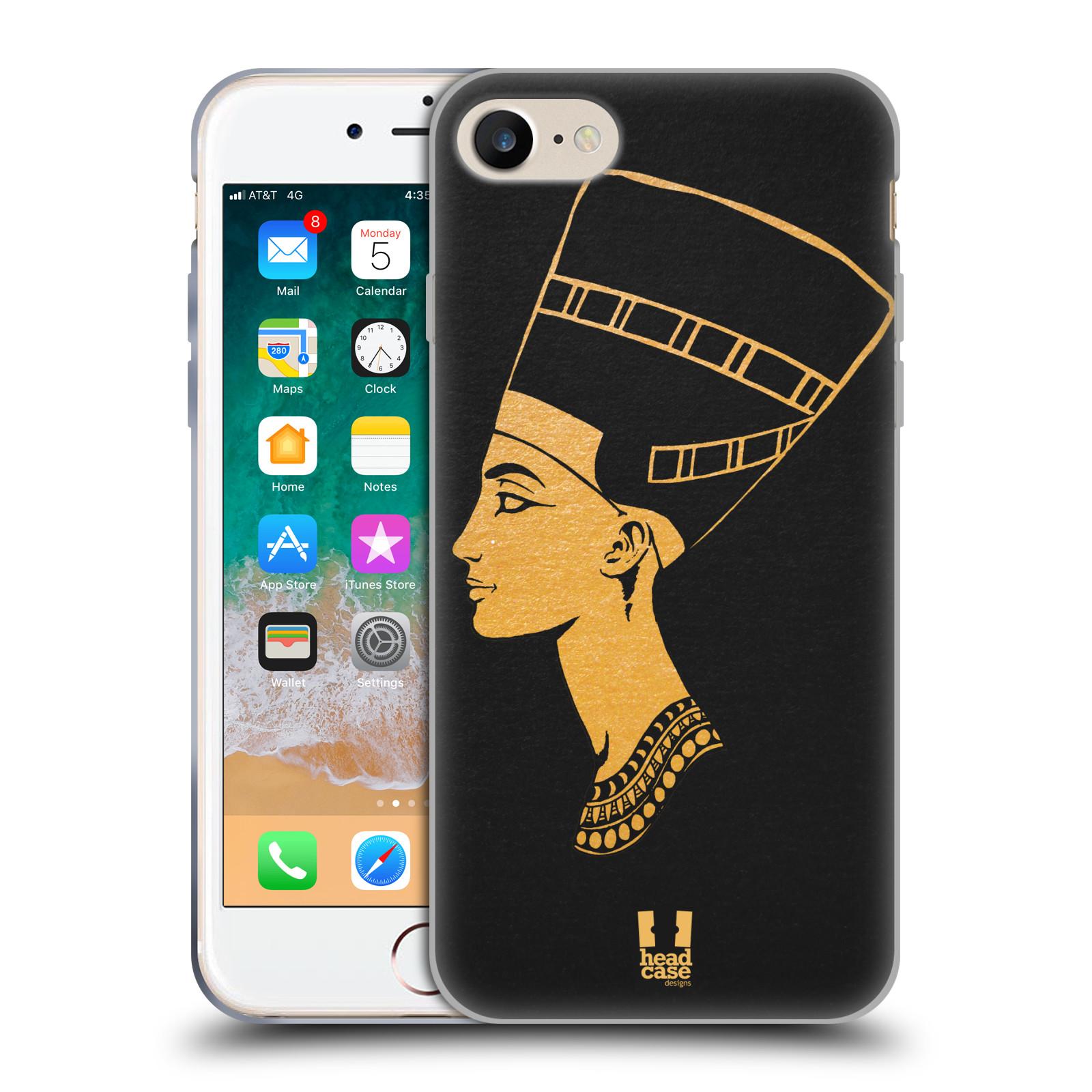 Silikonové pouzdro na mobil Apple iPhone SE (2020) - Head Case - EGYPT NEFERTITI
