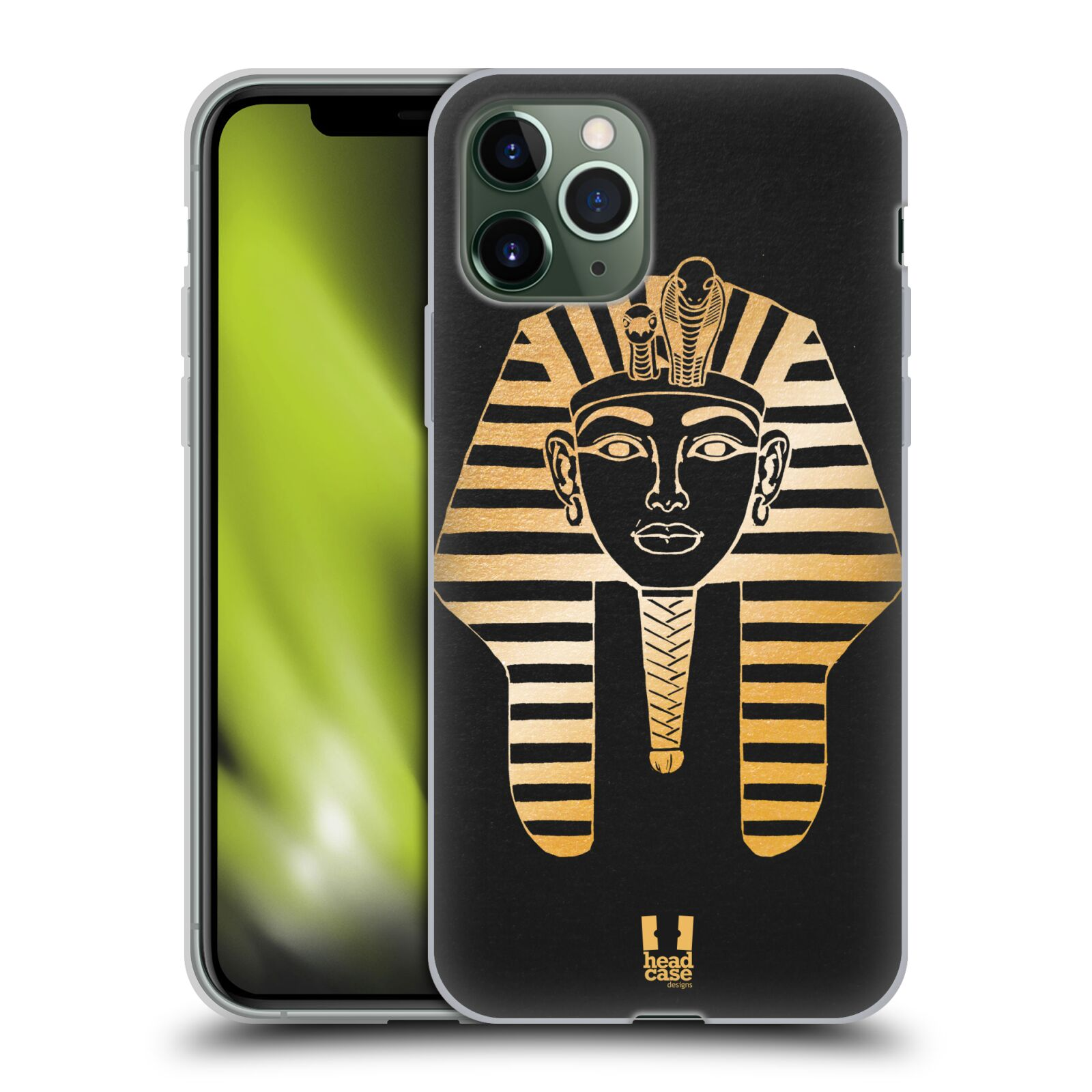 iphone 11 kryt apple - Silikonové pouzdro na mobil Apple iPhone 11 Pro - Head Case - EGYPT FARAON