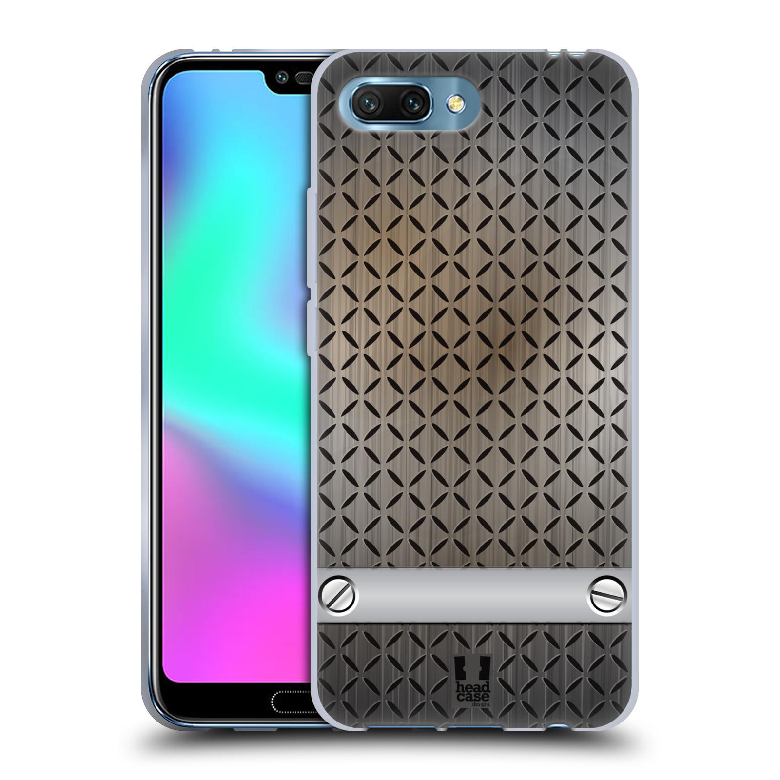 Silikonové pouzdro na mobil Honor 10 - Head Case - INDUSTRIAL STEEL