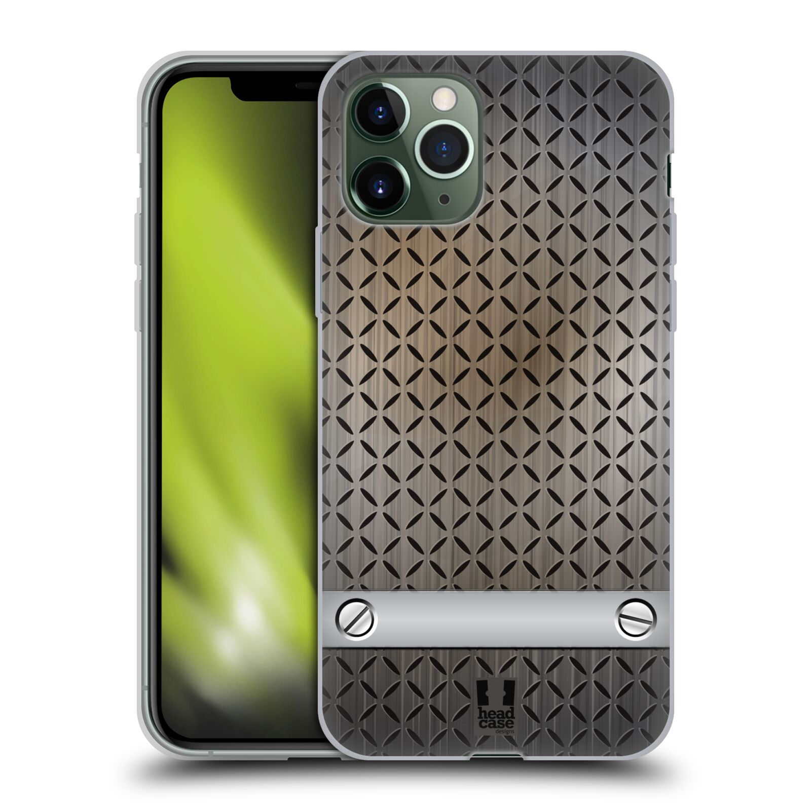 iphone xs max obal - Silikonové pouzdro na mobil Apple iPhone 11 Pro - Head Case - INDUSTRIAL STEEL