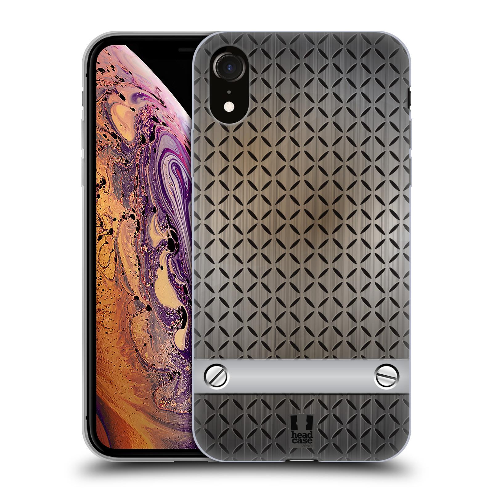 Silikonové pouzdro na mobil Apple iPhone XR - Head Case - INDUSTRIAL STEEL