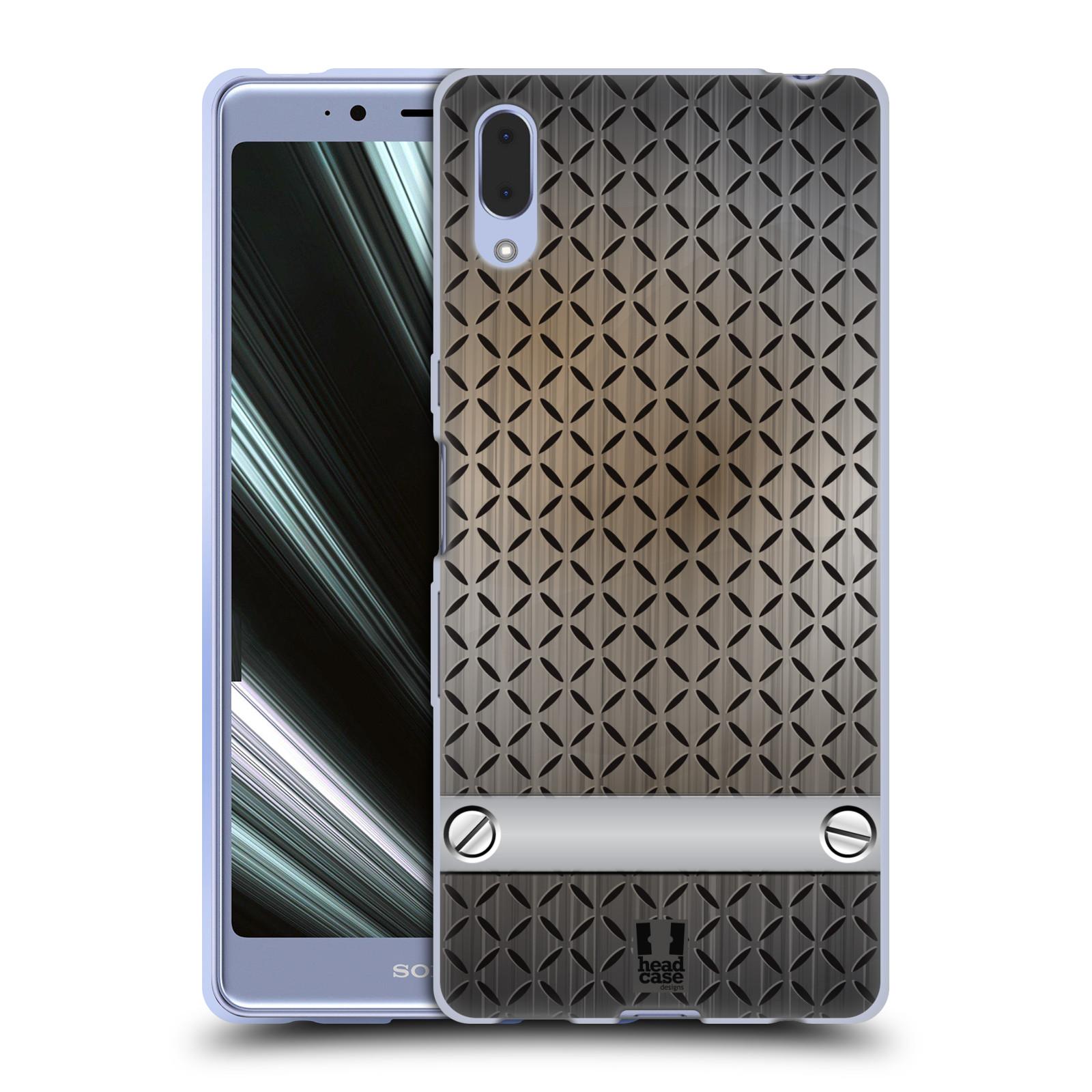 Silikonové pouzdro na mobil Sony Xperia L3 - Head Case - INDUSTRIAL STEEL