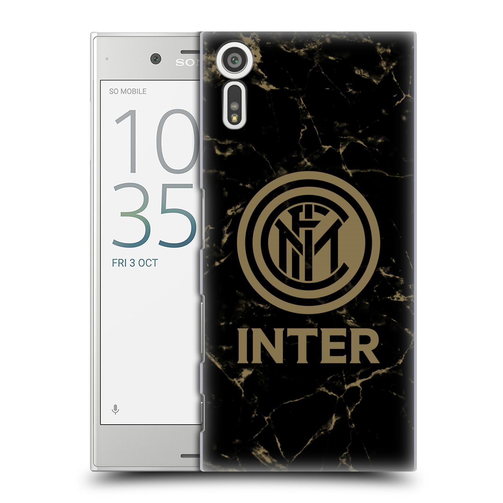 Plastové pouzdro na mobil Sony Xperia XZ - Head Case - Inter Milan - Mramorové logo (Plastový kryt či obal na mobilní telefon s oficiálním licencovaným motivem Inter Milan - Mramorové logo pro Sony Xperia XZ F8331 / Sony Xperia XZ Dual F8332)