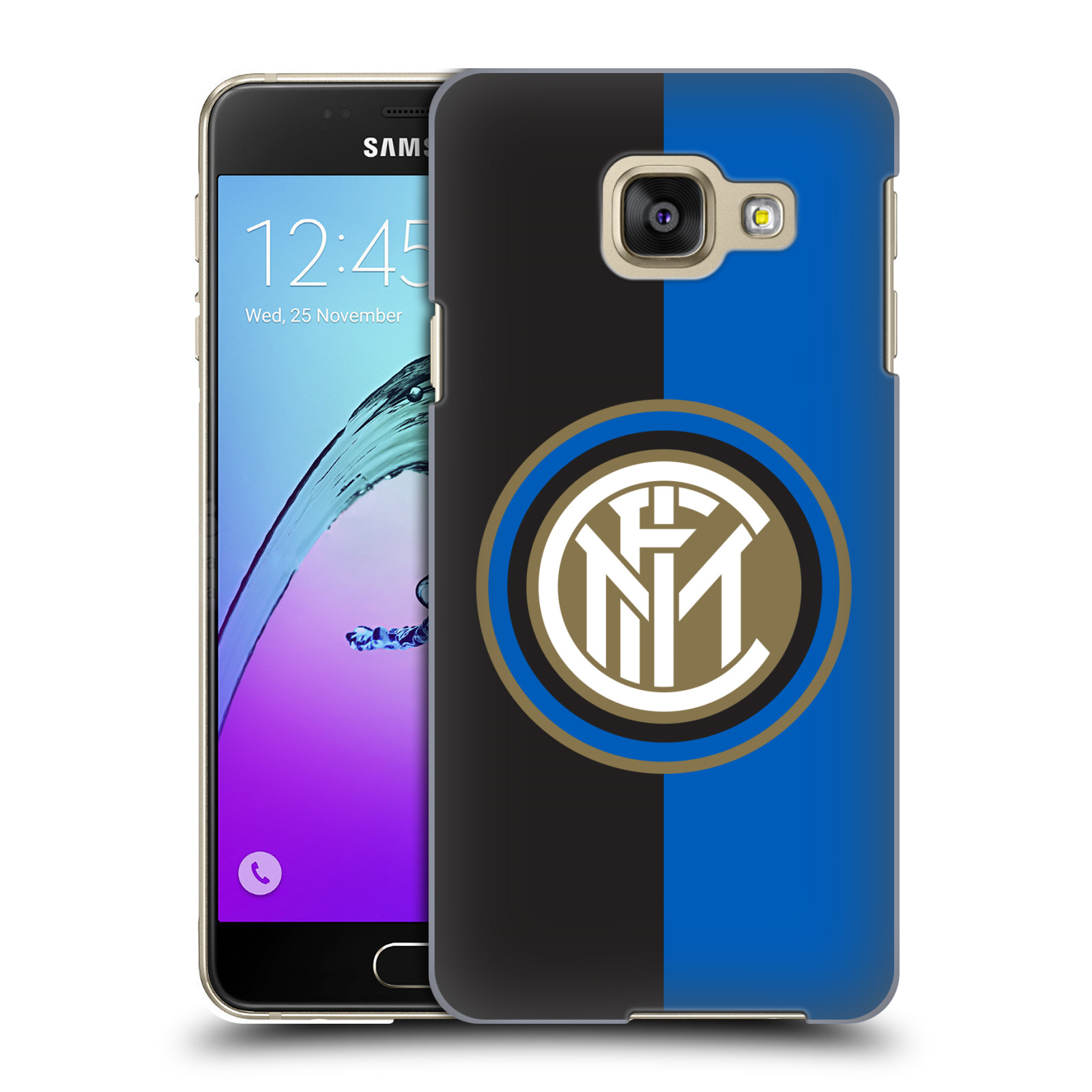 Plastové pouzdro na mobil Samsung Galaxy A3 (2016) - Head Case - Inter Milan - Black and blue