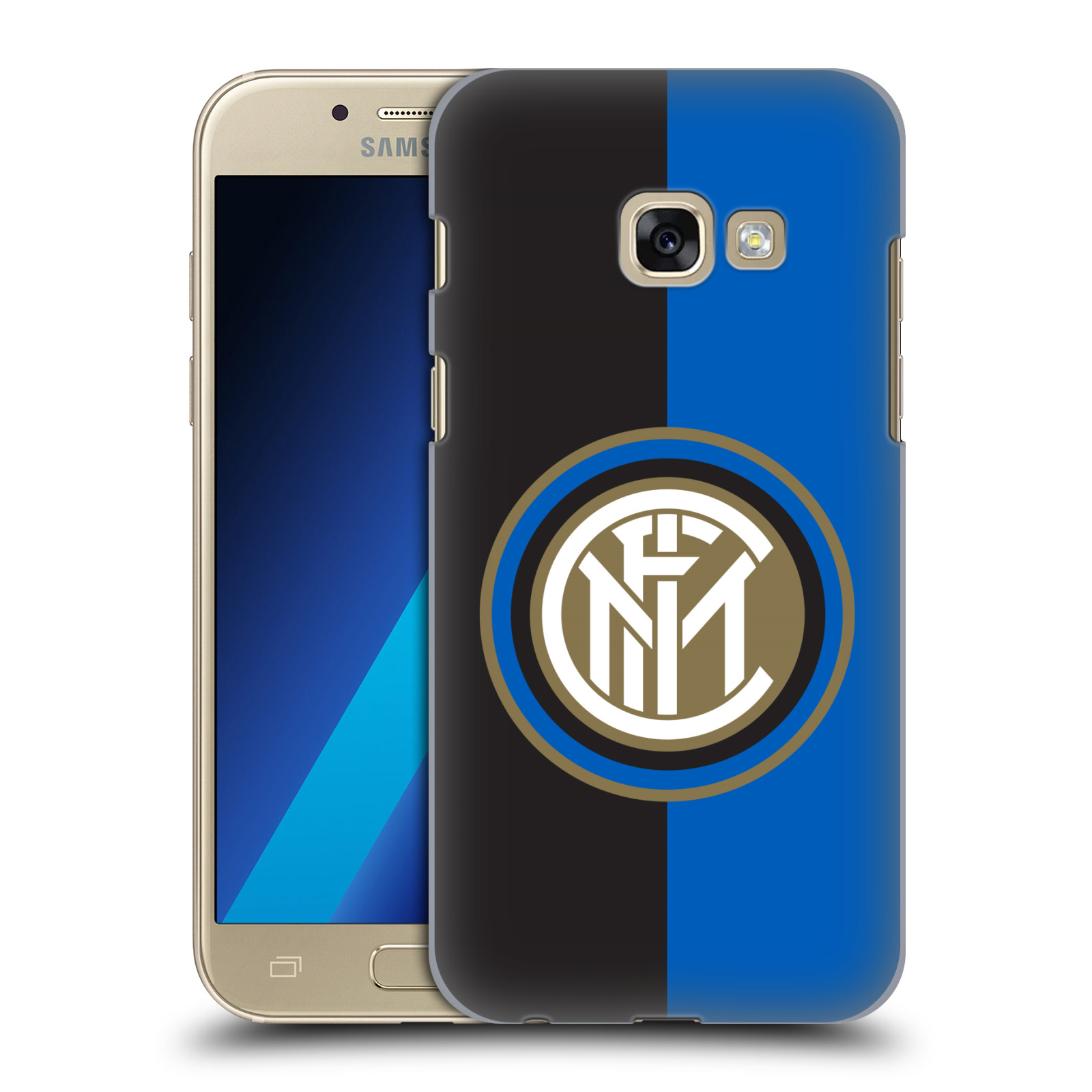 Plastové pouzdro na mobil Samsung Galaxy A3 (2017) - Head Case - Inter Milan - Black and blue