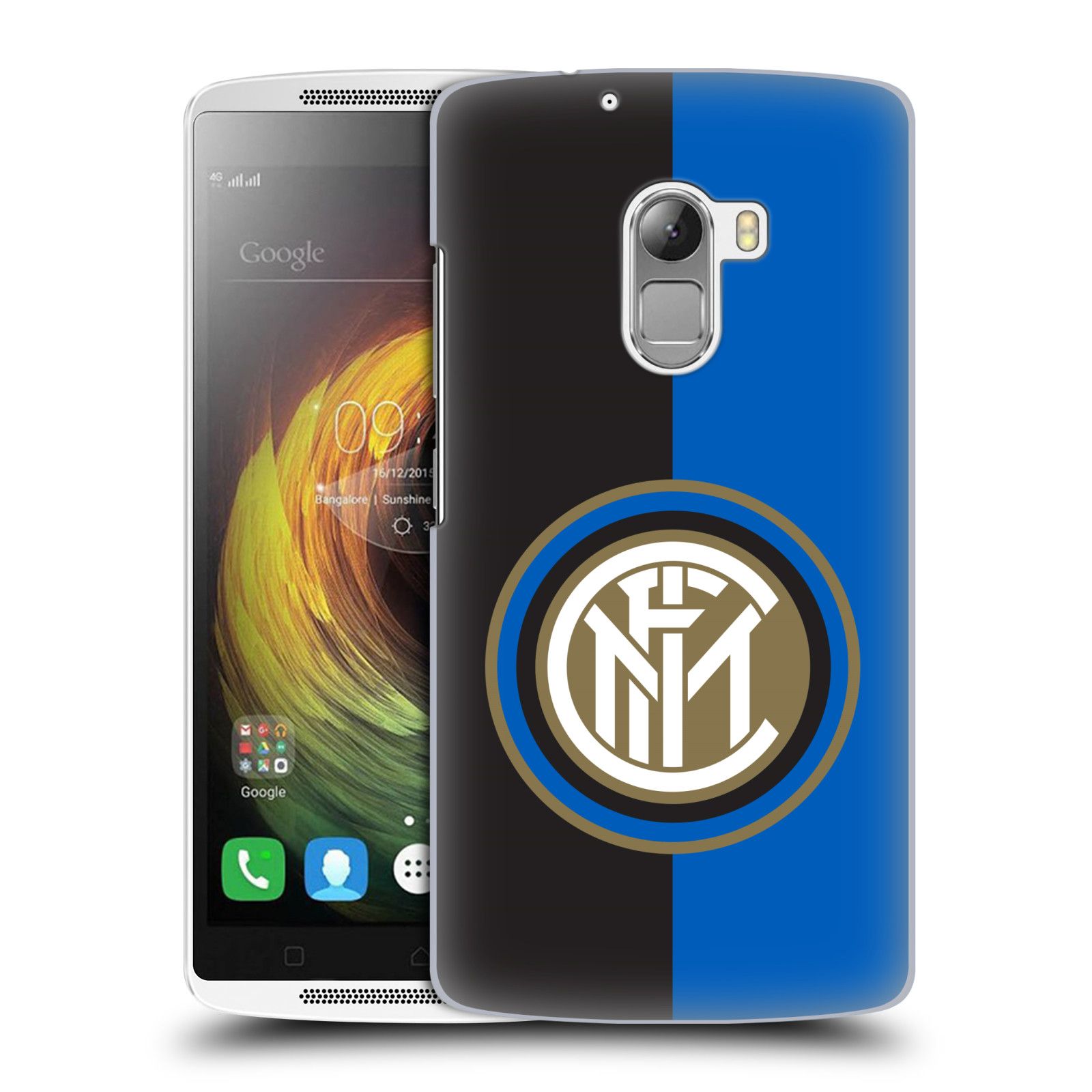 Plastové pouzdro na mobil Lenovo A7010 - Head Case - Inter Milan - Black and blue