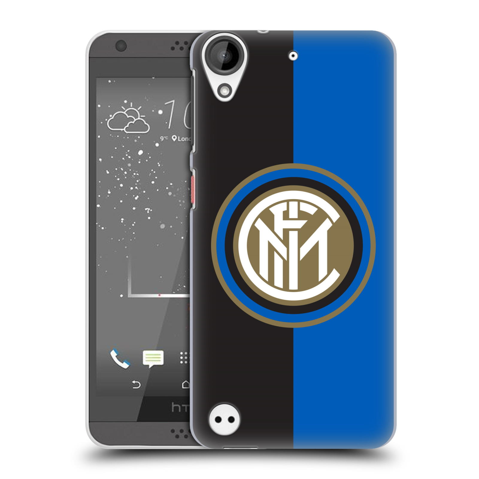Plastové pouzdro na mobil HTC Desire 530 - Head Case - Inter Milan - Black and blue