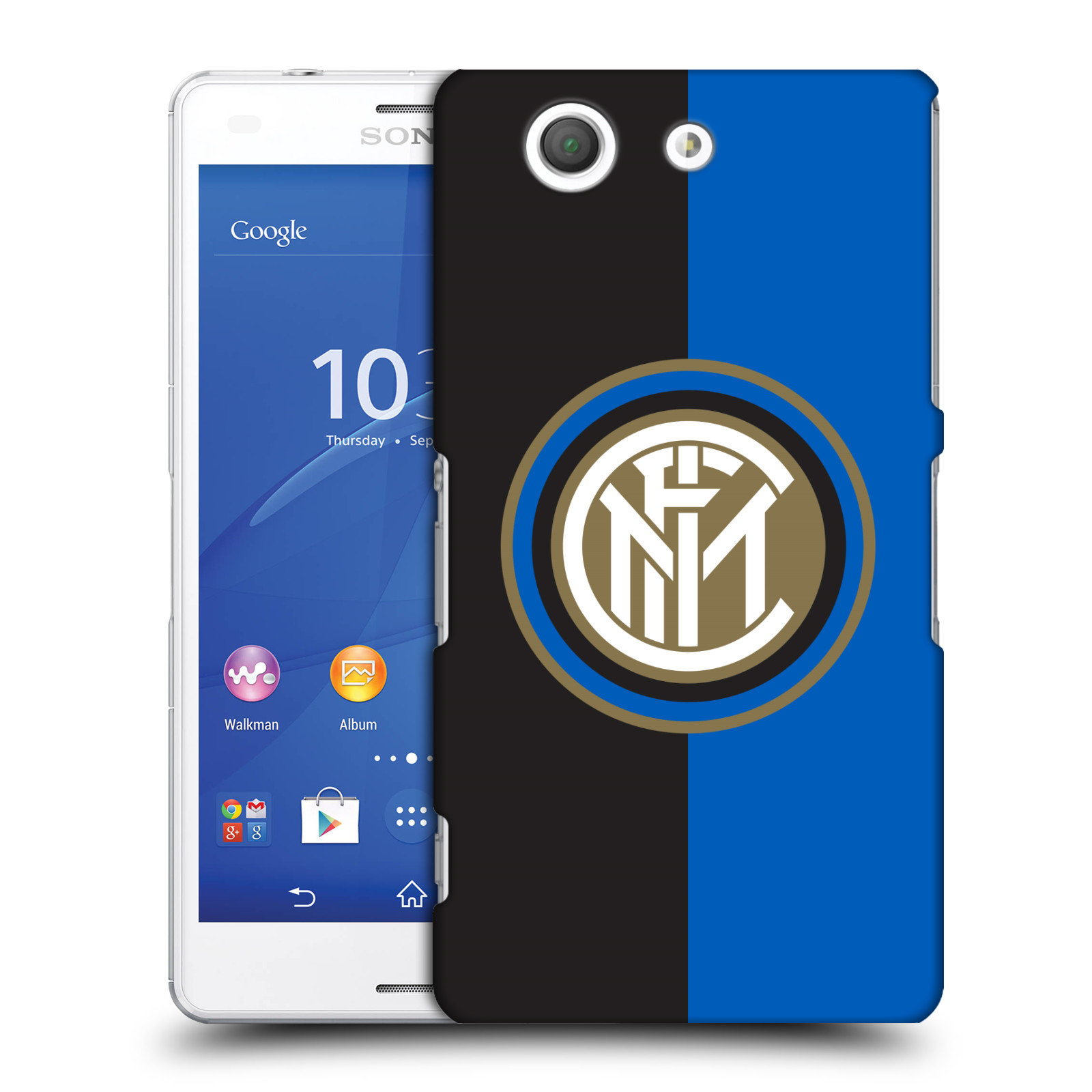 Plastové pouzdro na mobil Sony Xperia Z3 Compact D5803 - Head Case - Inter Milan - Black and blue