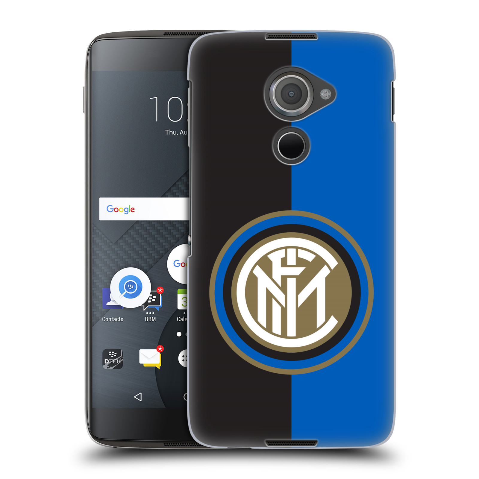 Plastové pouzdro na mobil Blackberry DTEK60 (Argon) - Head Case - Inter Milan - Black and blue