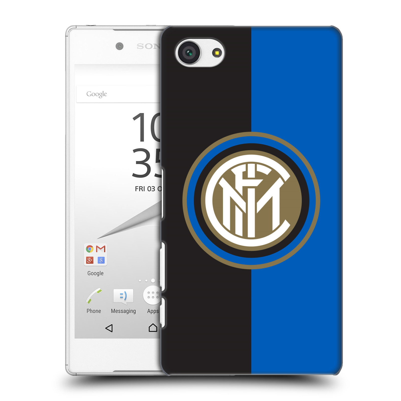Plastové pouzdro na mobil Sony Xperia Z5 Compact - Head Case - Inter Milan - Black and blue