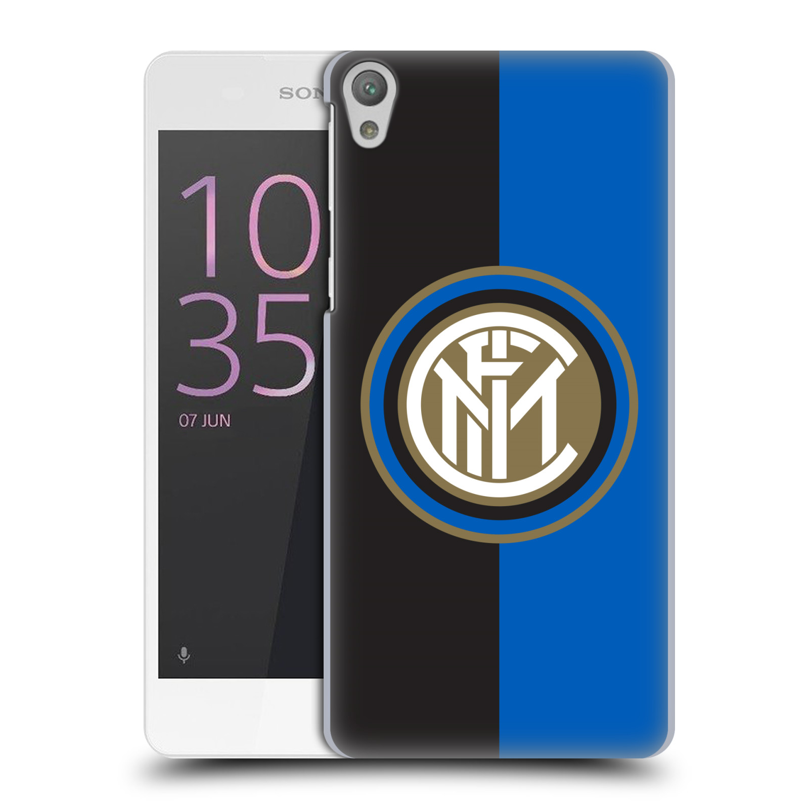 Plastové pouzdro na mobil Sony Xperia E5 - Head Case - Inter Milan - Black and blue