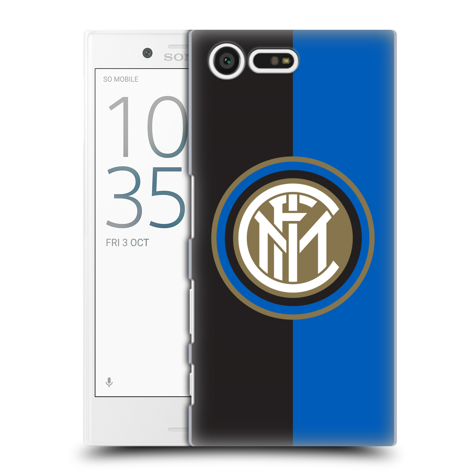 Plastové pouzdro na mobil Sony Xperia X Compact - Head Case - Inter Milan - Black and blue