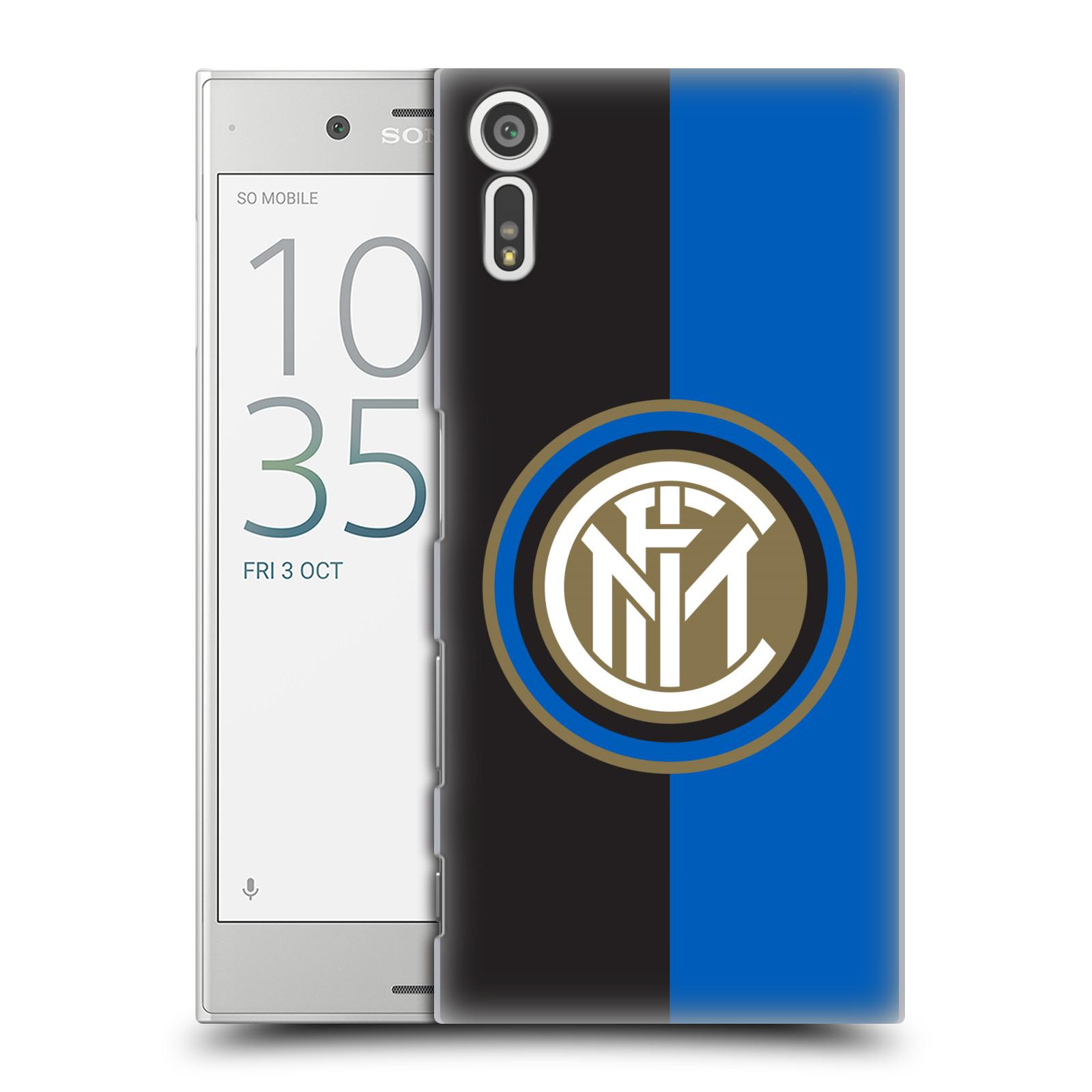 Plastové pouzdro na mobil Sony Xperia XZ - Head Case - Inter Milan - Black and blue (Plastový kryt či obal na mobilní telefon s oficiálním licencovaným motivem Inter Milan - Black and blue pro Sony Xperia XZ F8331 / Sony Xperia XZ Dual F8332)