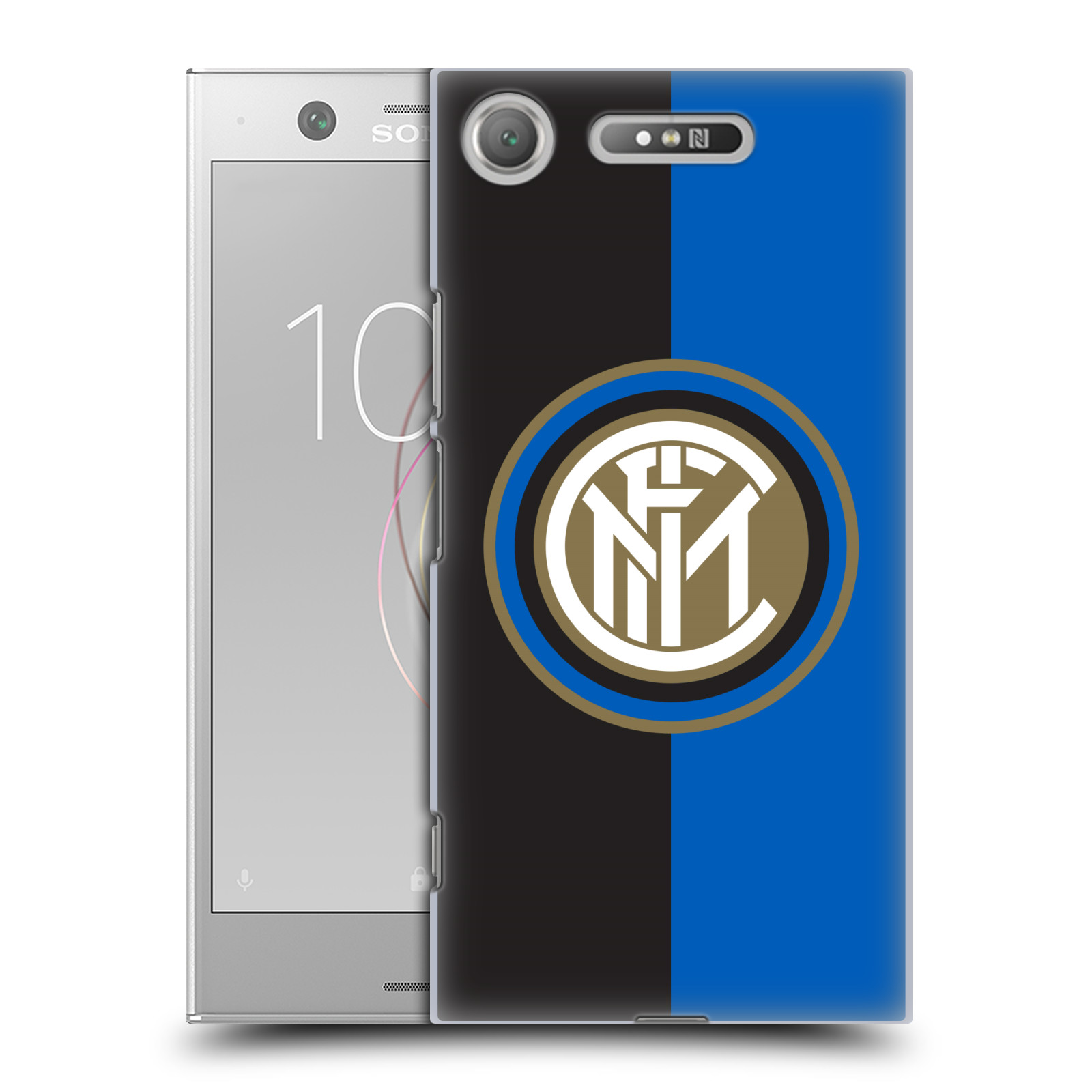 Plastové pouzdro na mobil Sony Xperia XZ1 - Head Case - Inter Milan - Black and blue