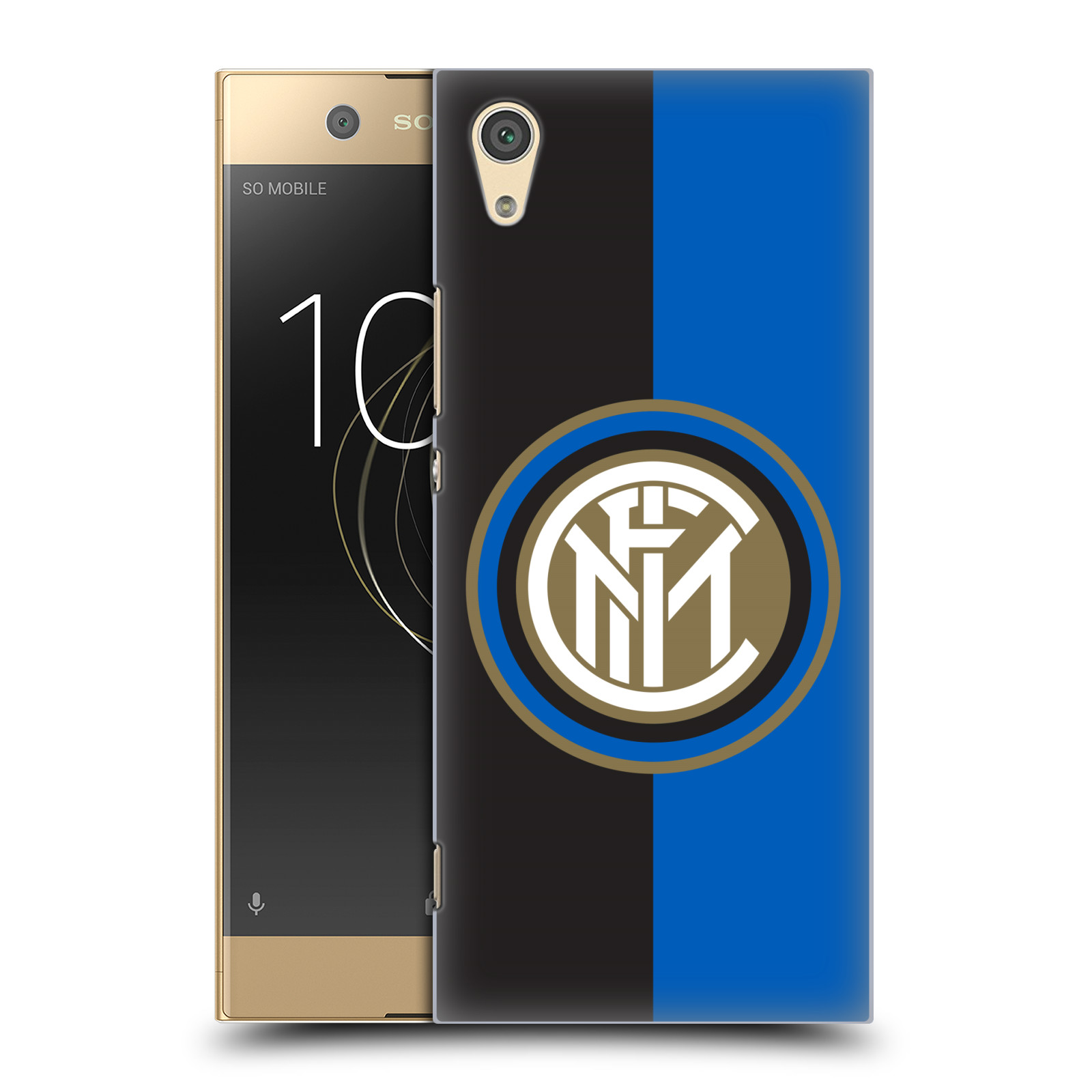 Plastové pouzdro na mobil Sony Xperia XA1 - Head Case - Inter Milan - Black and blue
