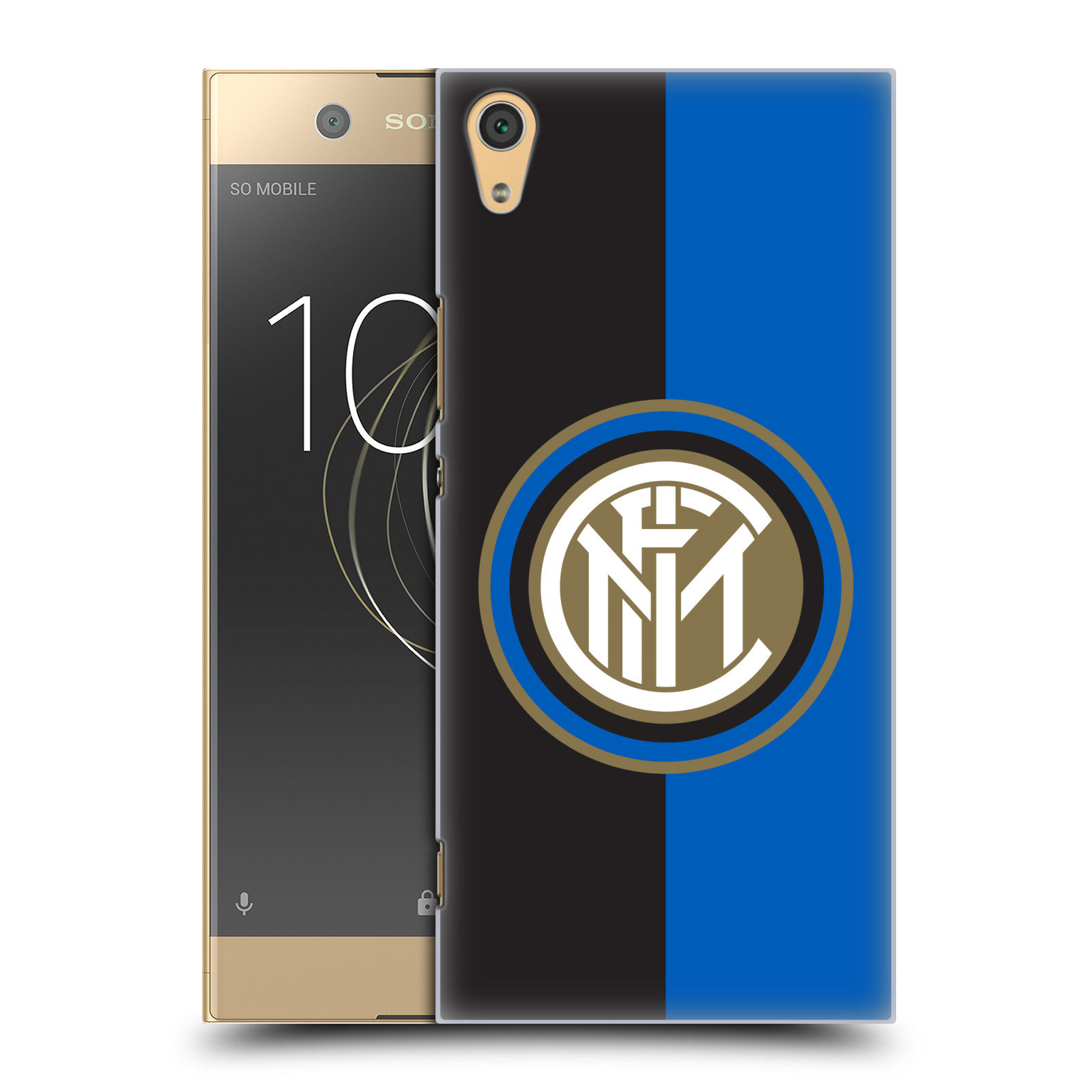 Plastové pouzdro na mobil Sony Xperia XA1 Ultra - Head Case - Inter Milan - Black and blue