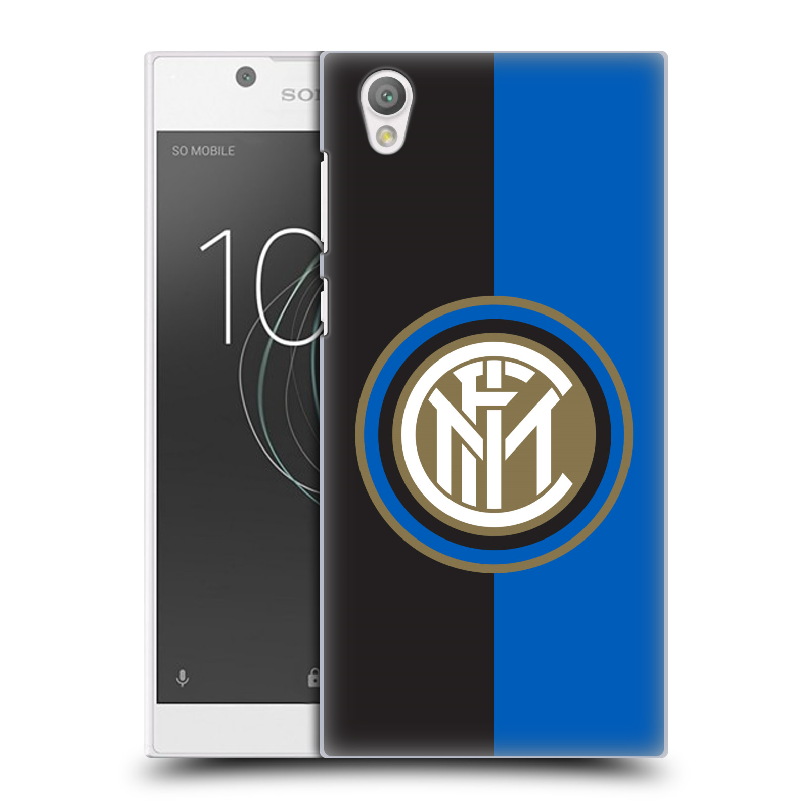 Plastové pouzdro na mobil Sony Xperia L1 - Head Case - Inter Milan - Black and blue