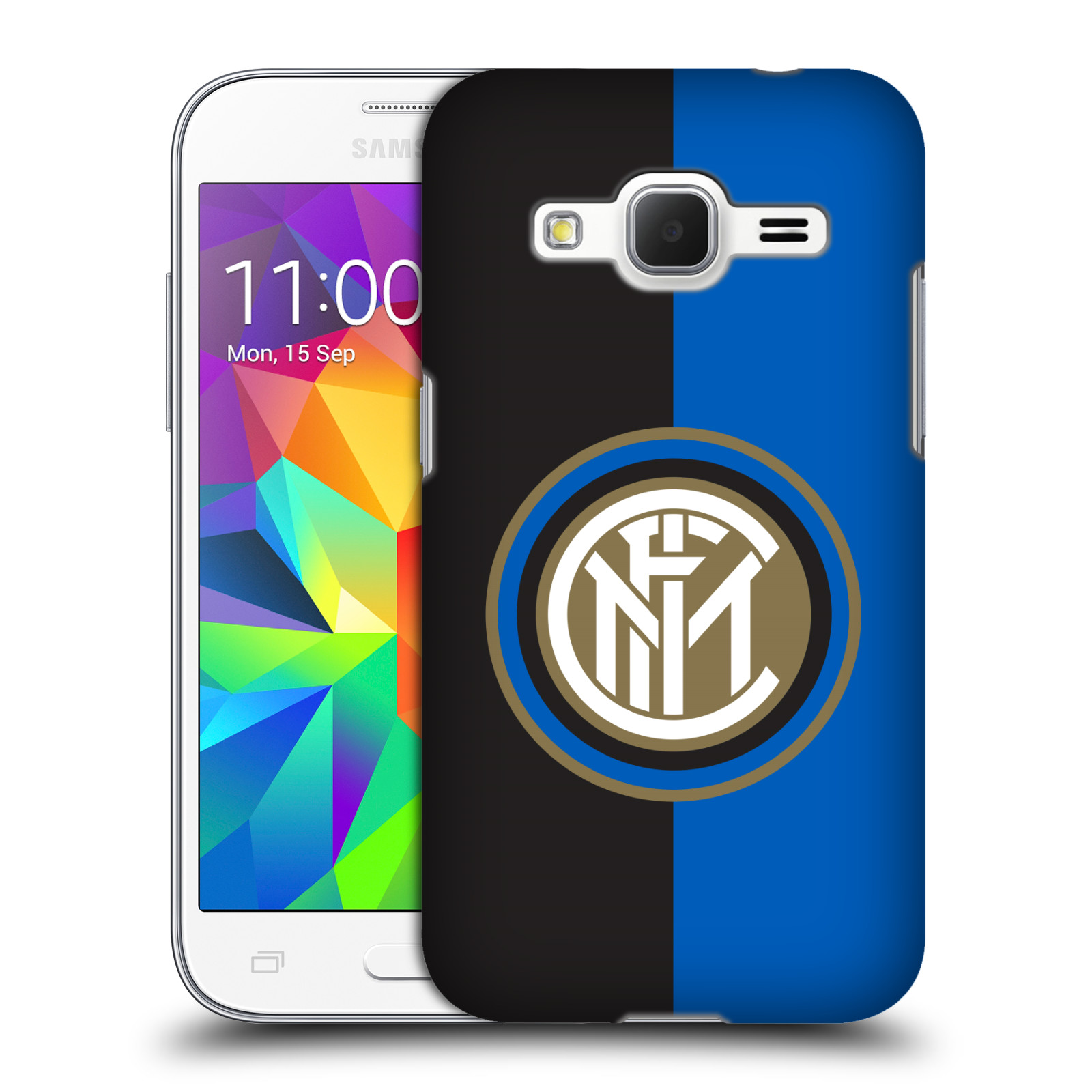 Plastové pouzdro na mobil Samsung Galaxy Core Prime VE - Head Case - Inter Milan - Black and blue