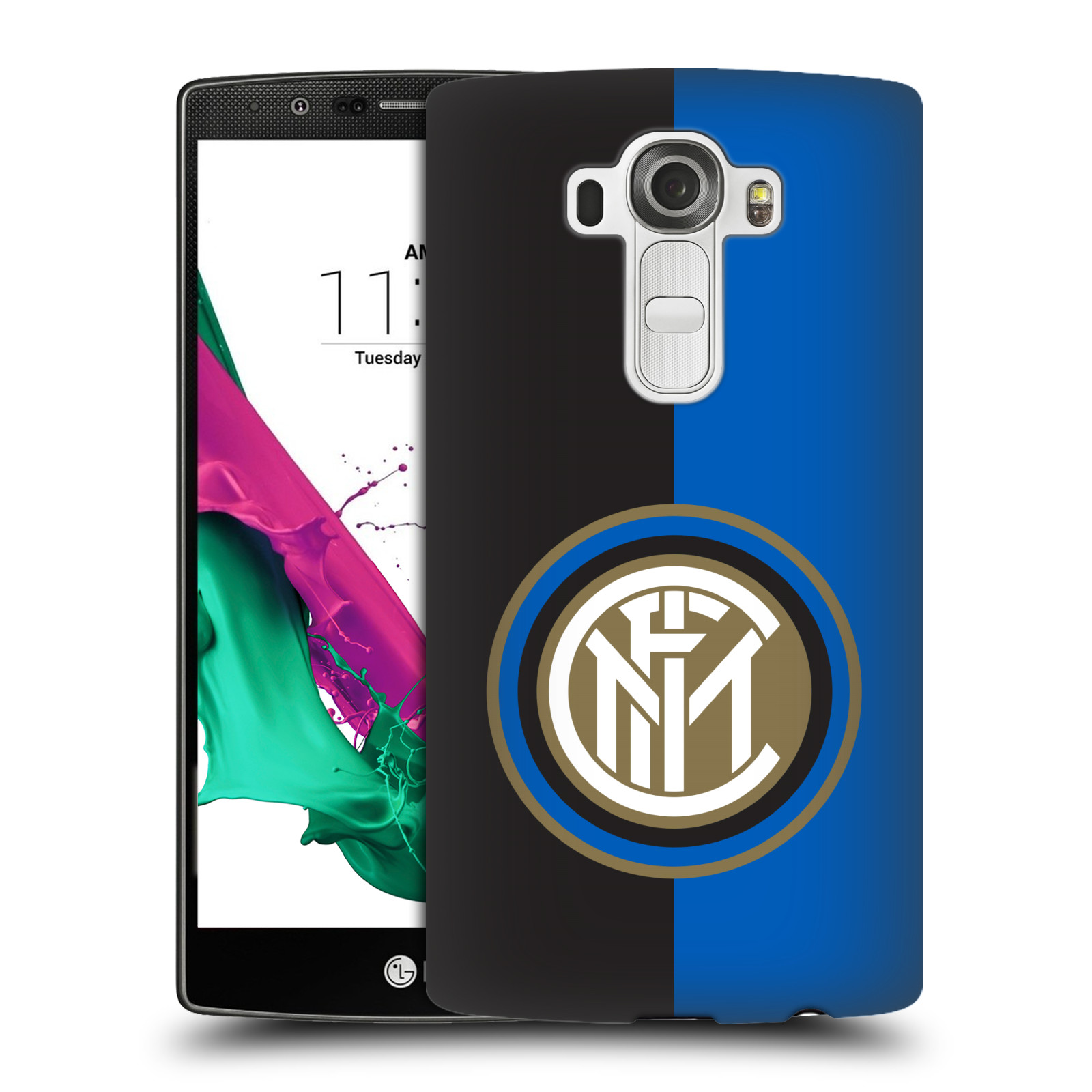Plastové pouzdro na mobil LG G4 - Head Case - Inter Milan - Black and blue