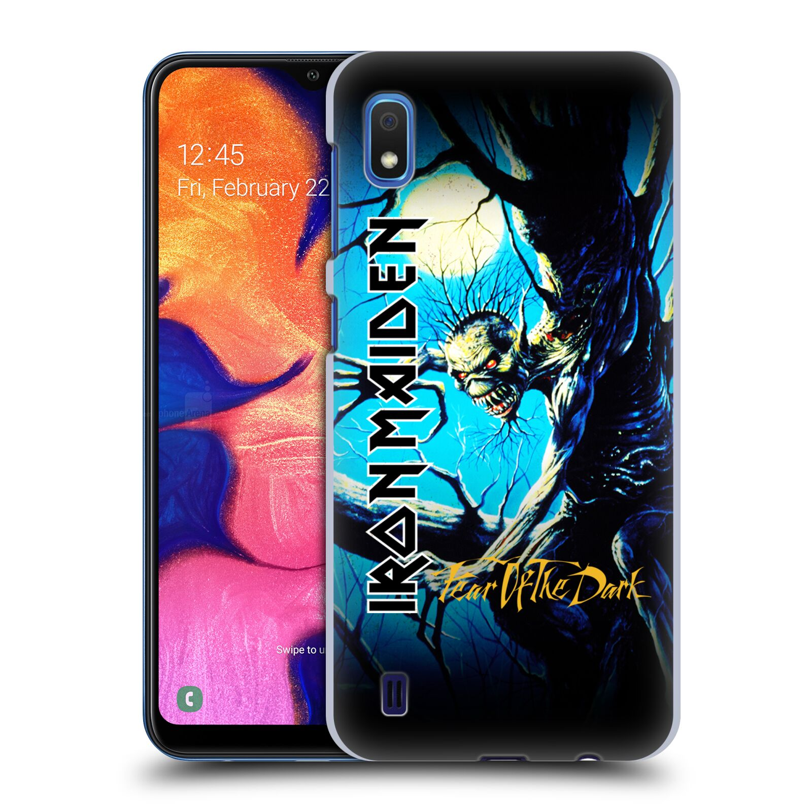 Plastové pouzdro na mobil Samsung Galaxy A10 - Head Case - Iron Maiden - Fear Of The Dark