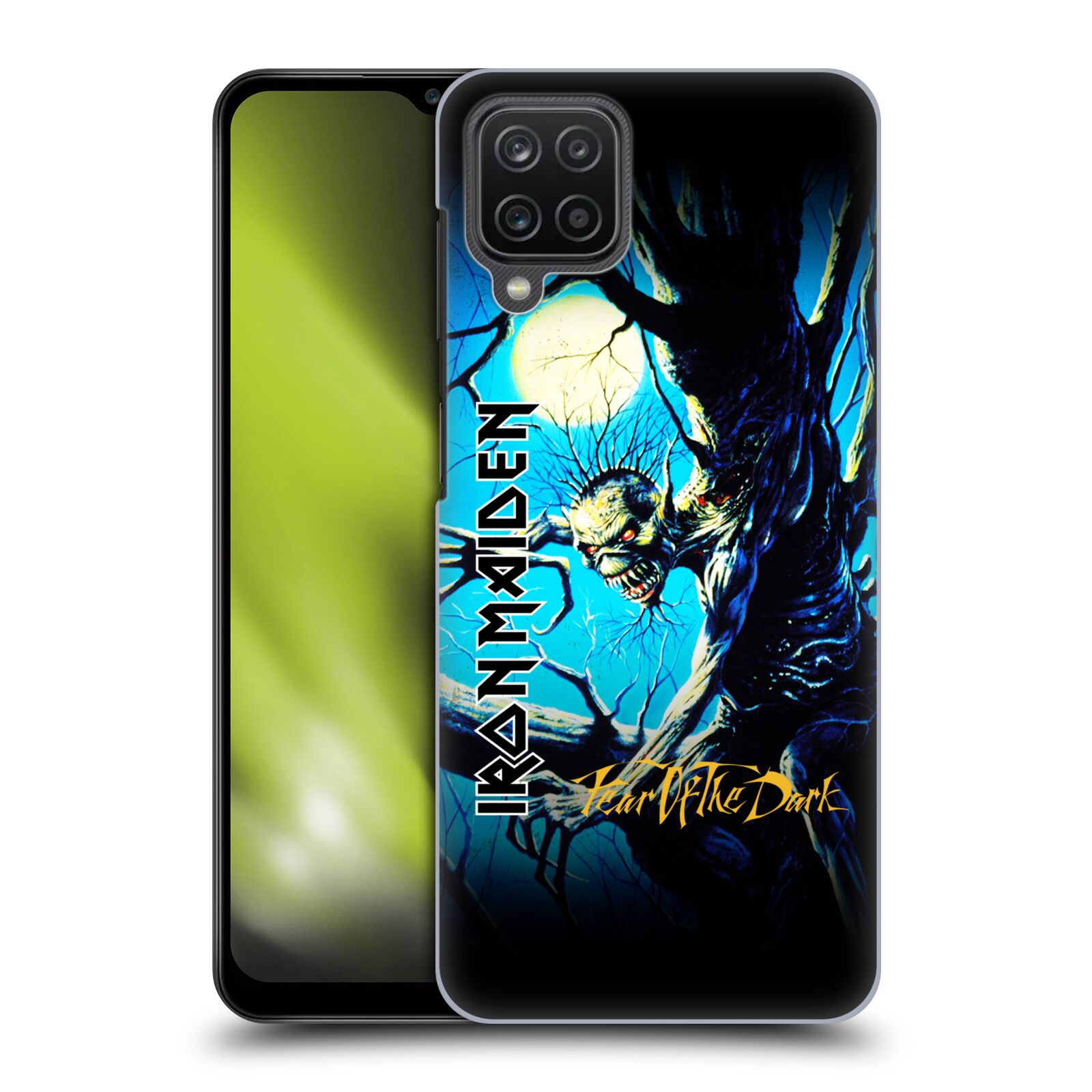 Plastové pouzdro na mobil Samsung Galaxy A12 - Head Case - Iron Maiden - Fear Of The Dark