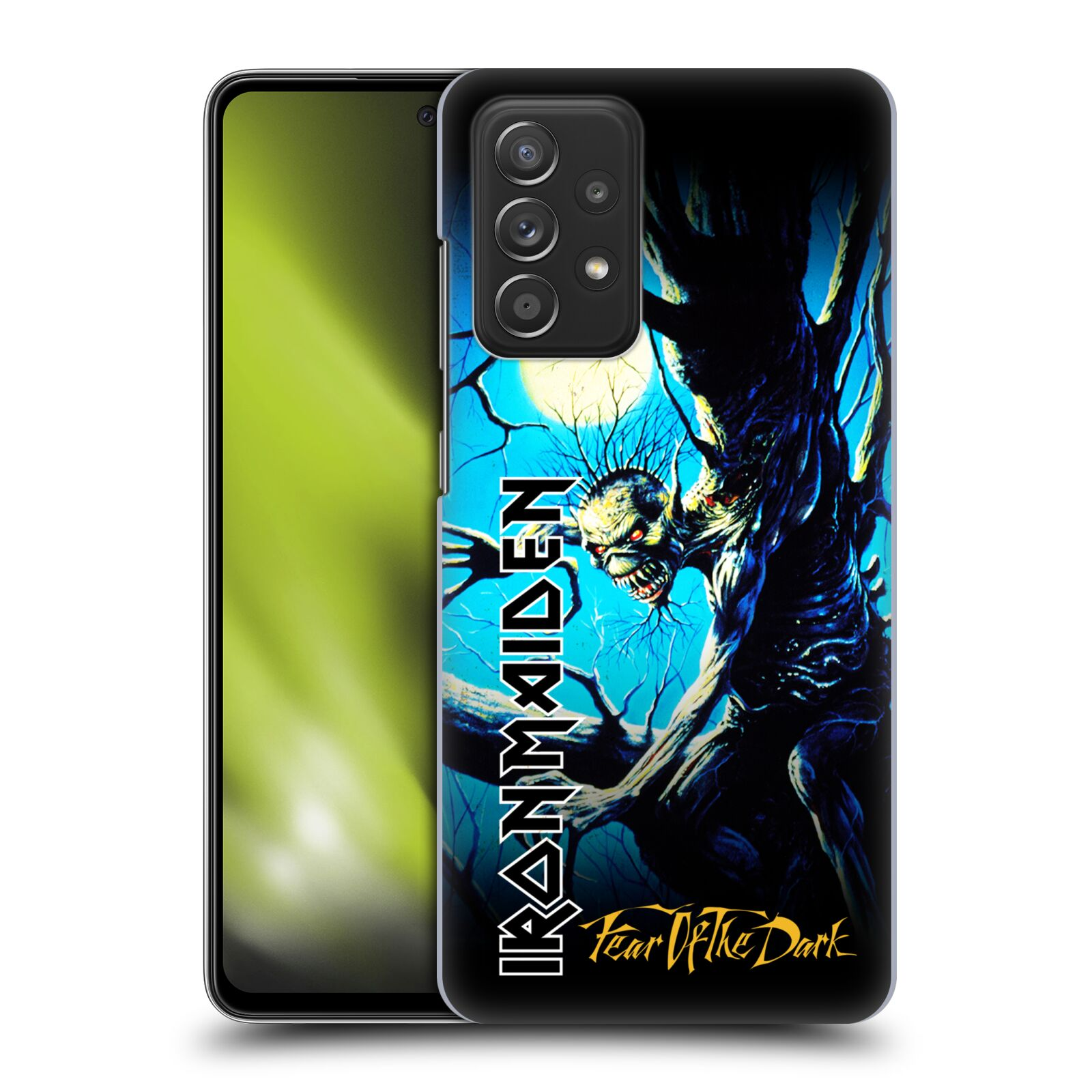 Plastové pouzdro na mobil Samsung Galaxy A52 / A52 5G / A52s 5G - Head Case - Iron Maiden - Fear Of The Dark