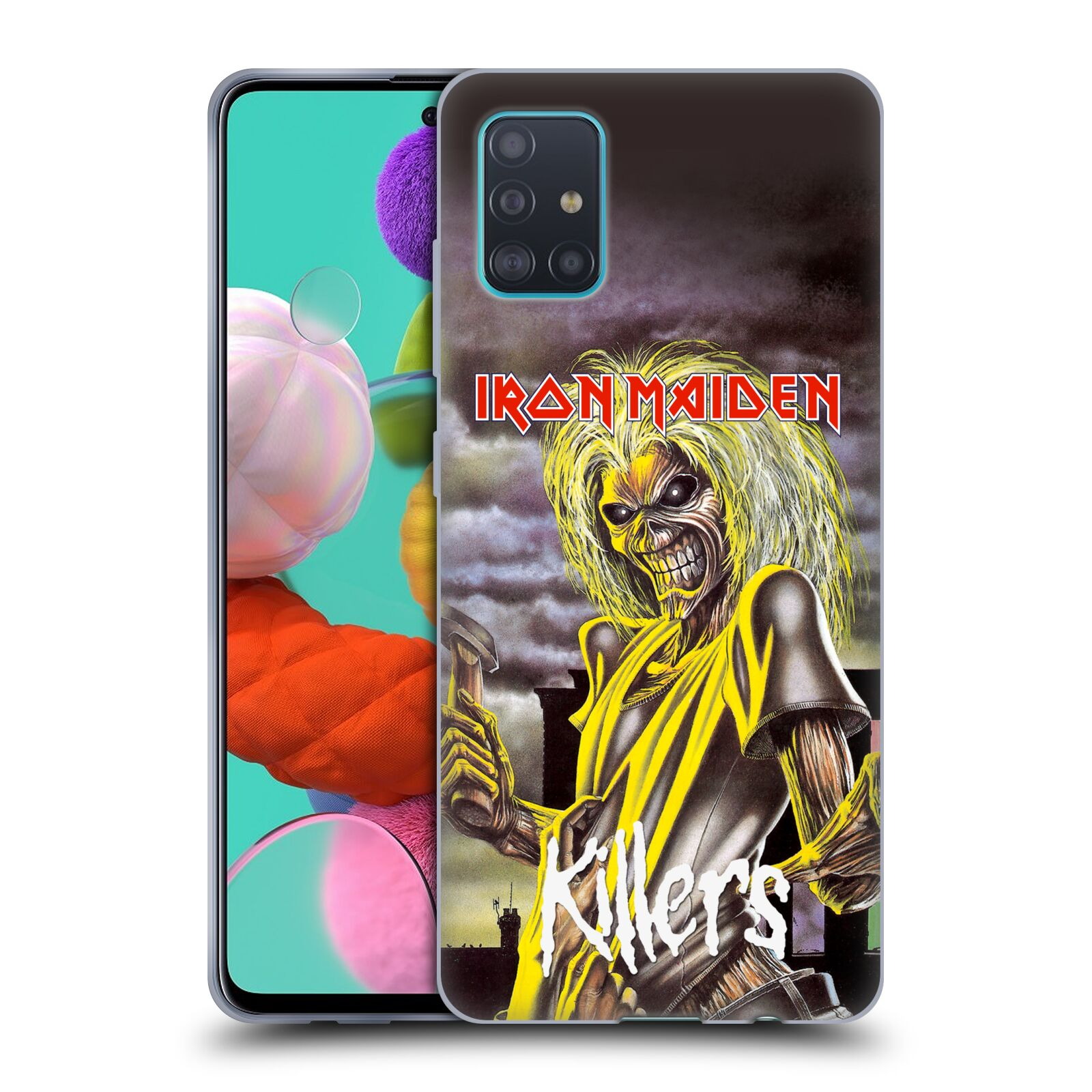 Silikonové pouzdro na mobil Samsung Galaxy A51 - Head Case - Iron Maiden - Killers