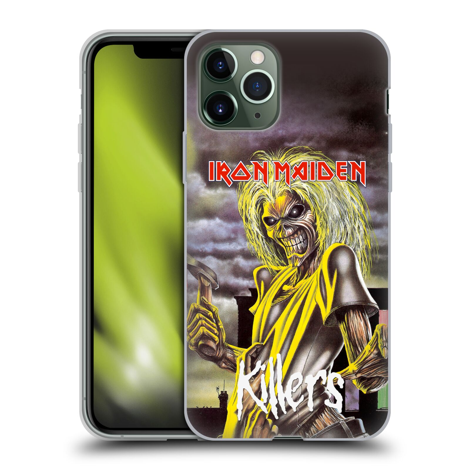 original krytu na iphone xr | Silikonové pouzdro na mobil Apple iPhone 11 Pro - Head Case - Iron Maiden - Killers